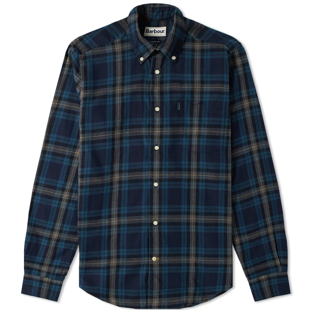 Barbour Navy Stapleton Highland Check Shirt
