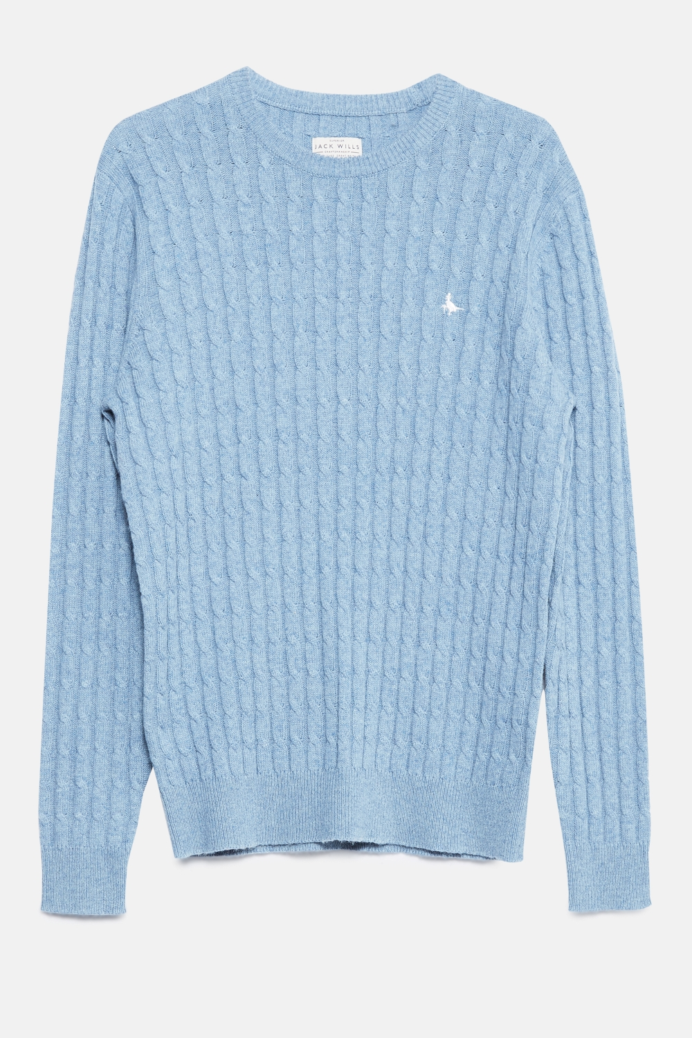 Jack Wills Sky Blue MARLOW CABLE CREW