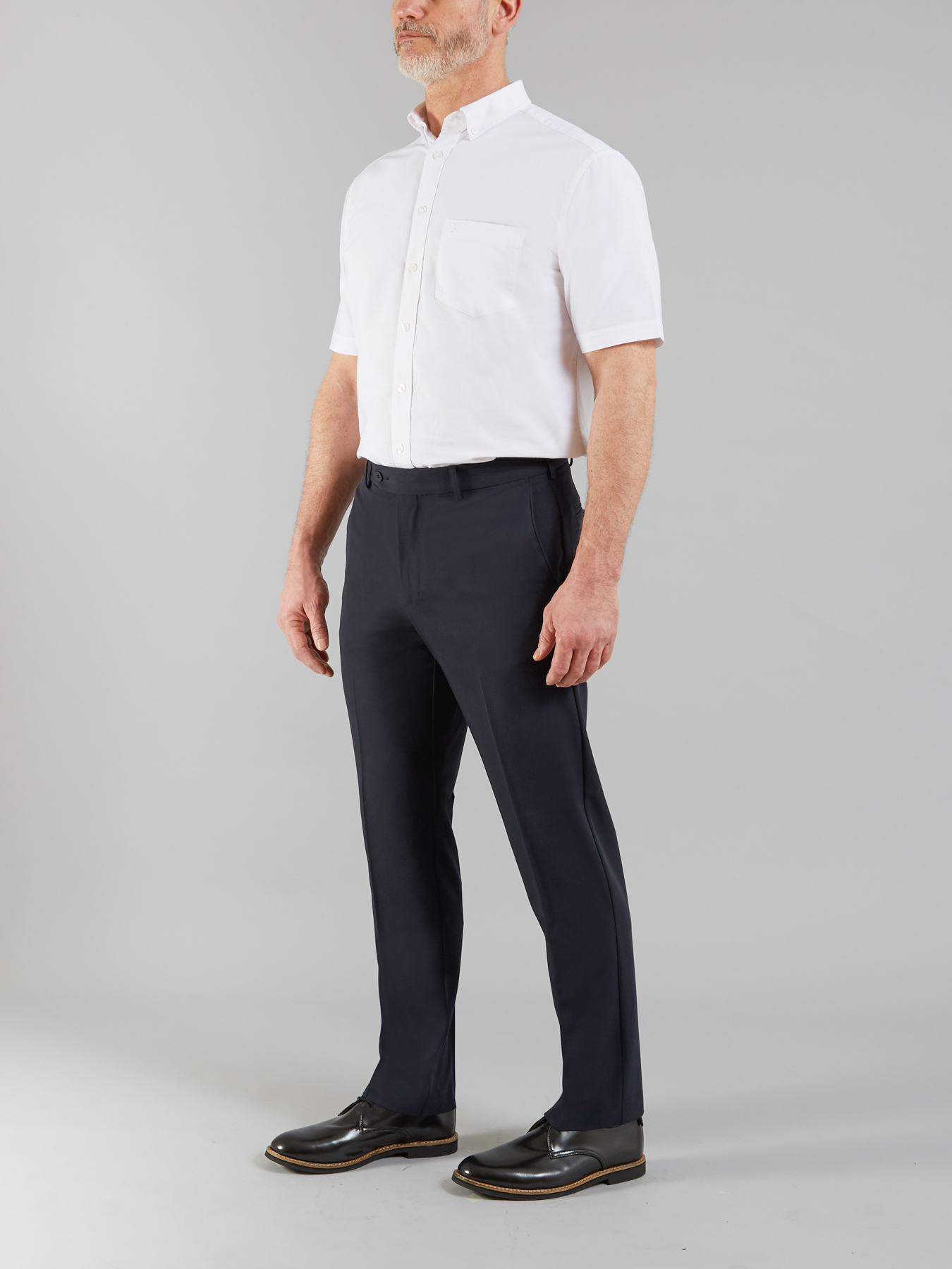 Farah Vintage Navy The roachman 4 way stretch trousers