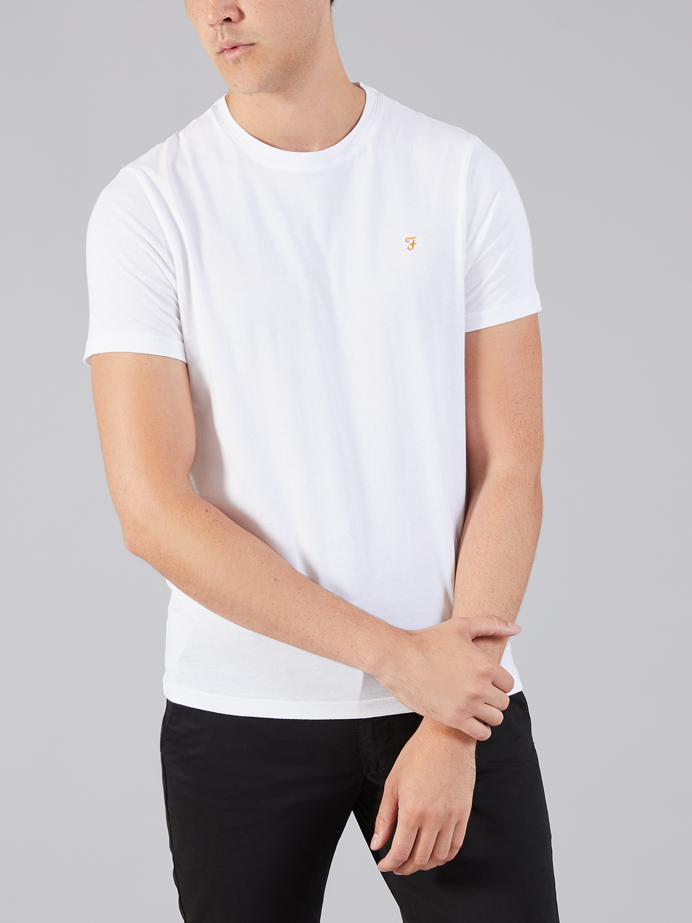 Farah Vintage White The denny slim t-shirt