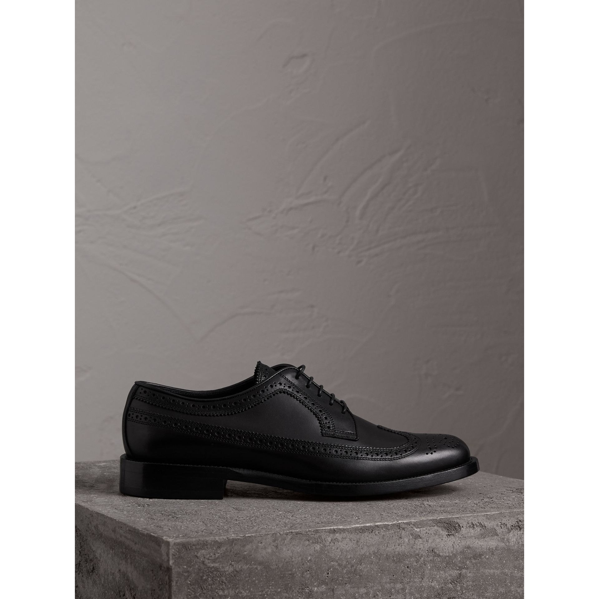 Burberry Black Leather Derby Brogues
