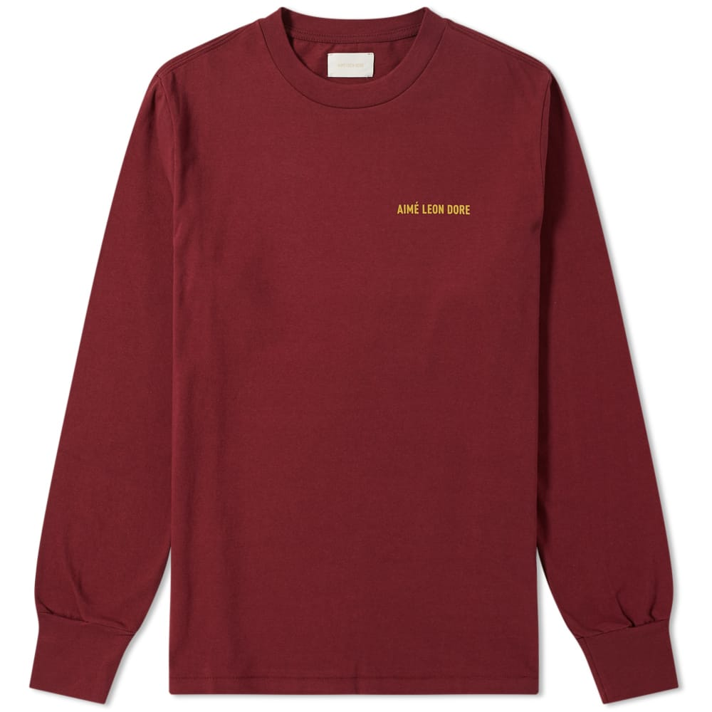 Aime Leon Dore Burgundy Long Sleeve Tee