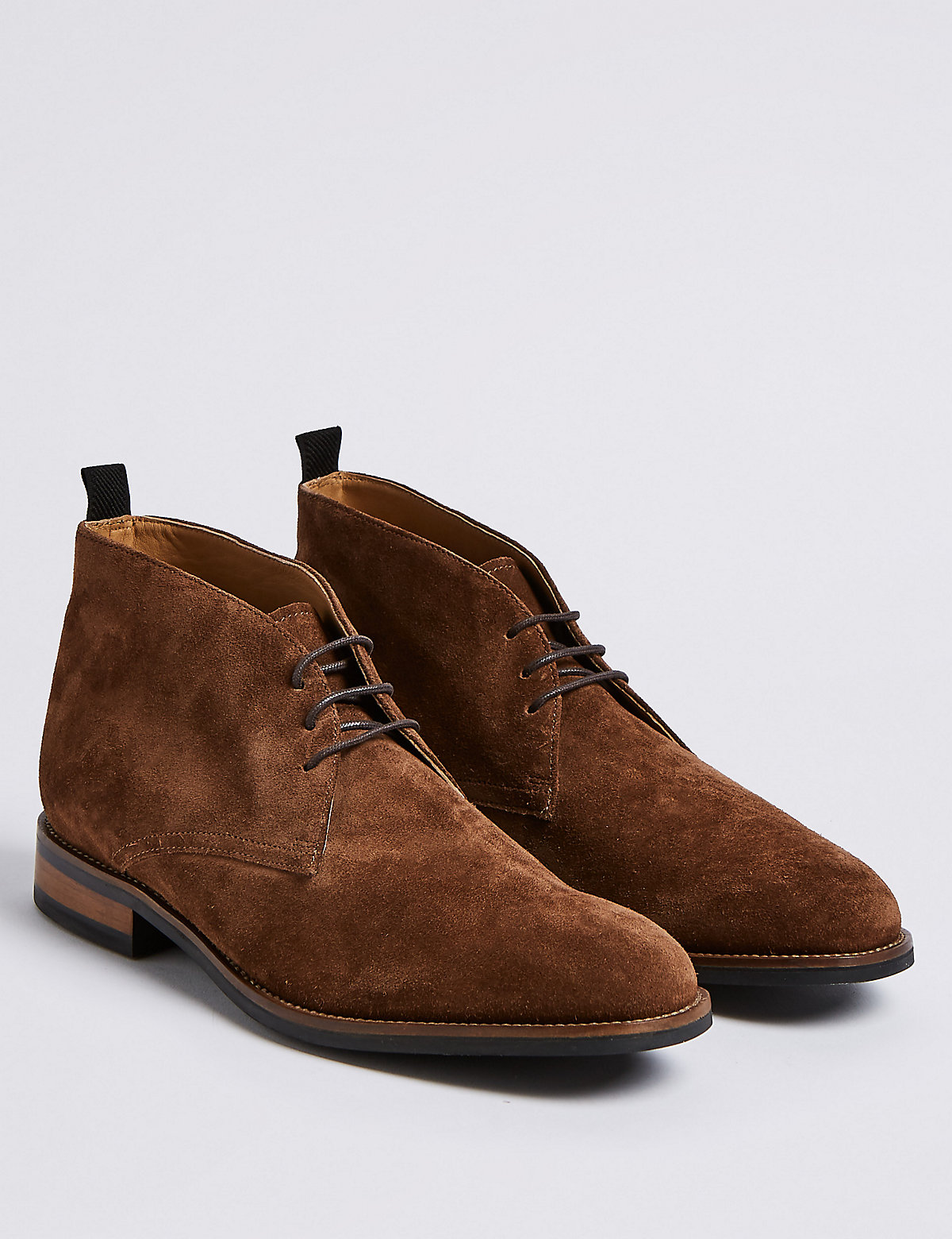 Marks & Spencer Brown Suede Lace-up Chukka Boots