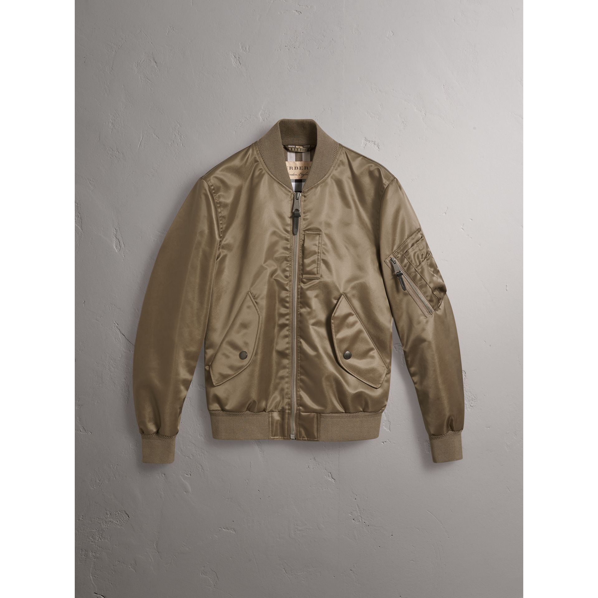 7b2a5189f Satin Bomber Jacket by Burberry