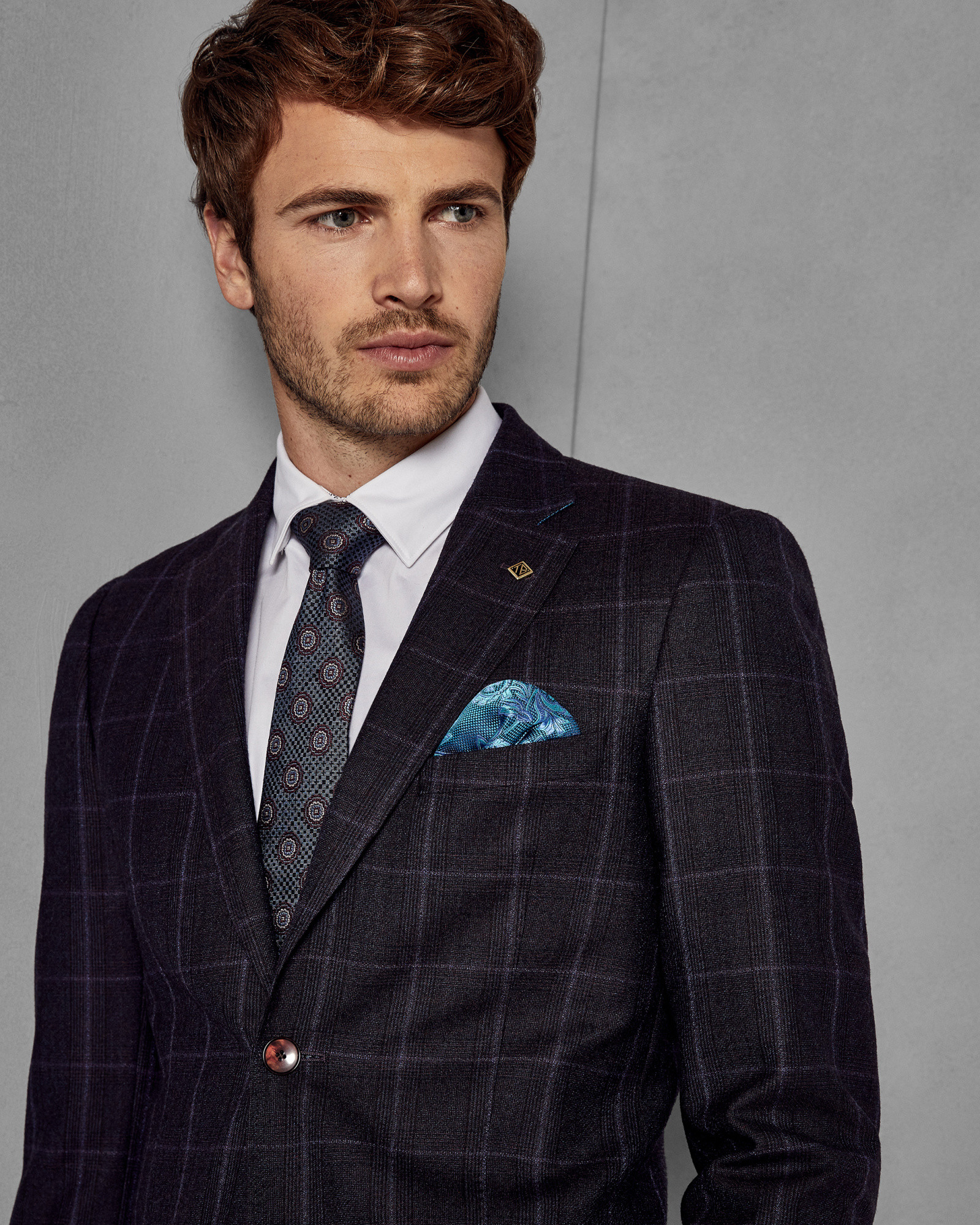 afd10e549 AFANAJ Checked wool suit jacket by Ted Baker — Thread