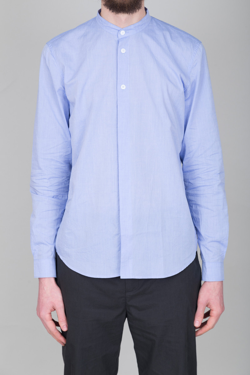 Folk Grandad Shirt - Fresh Blue