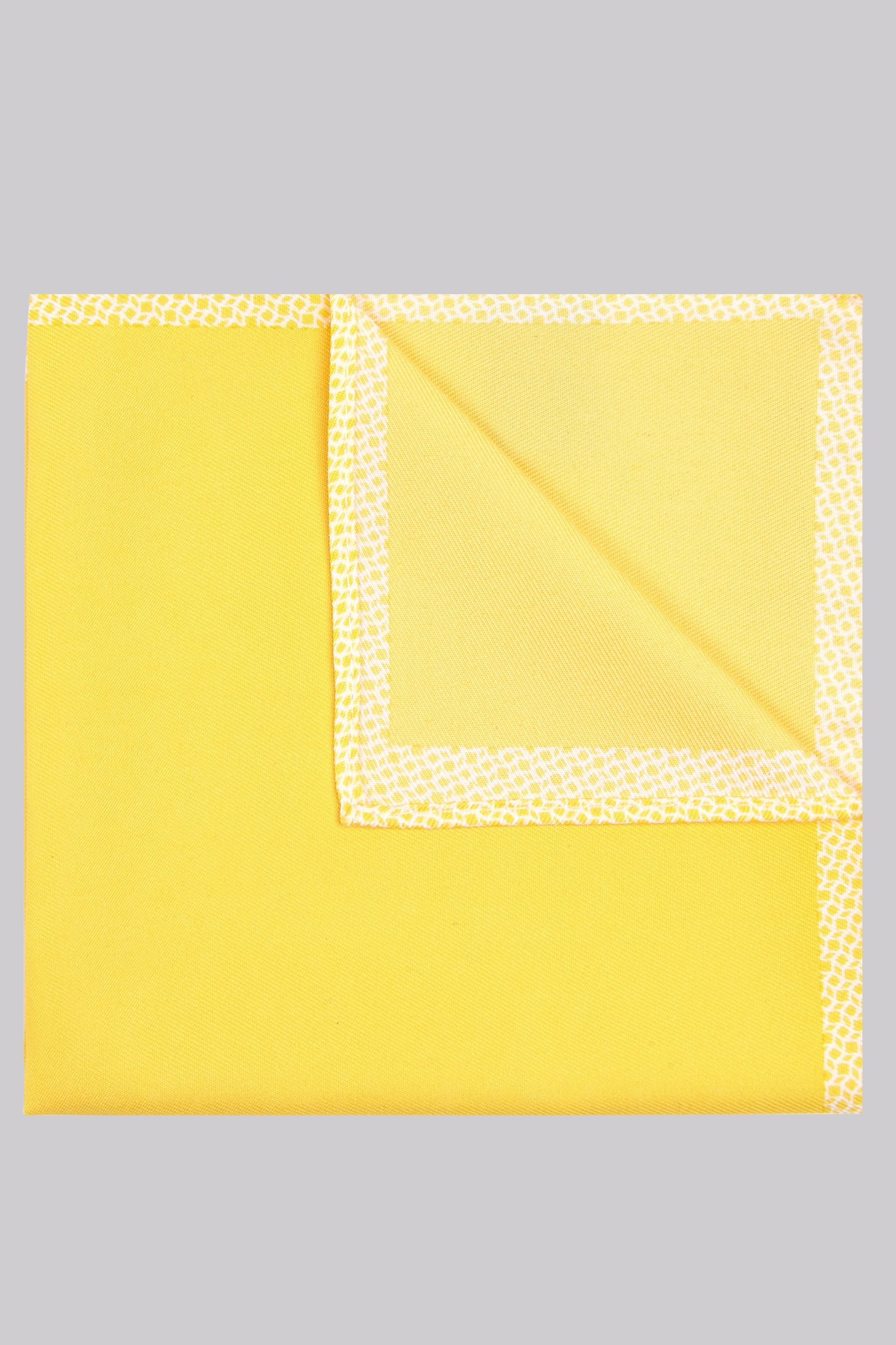 Moss Bros Moss London Yellow Geo Pocket Square