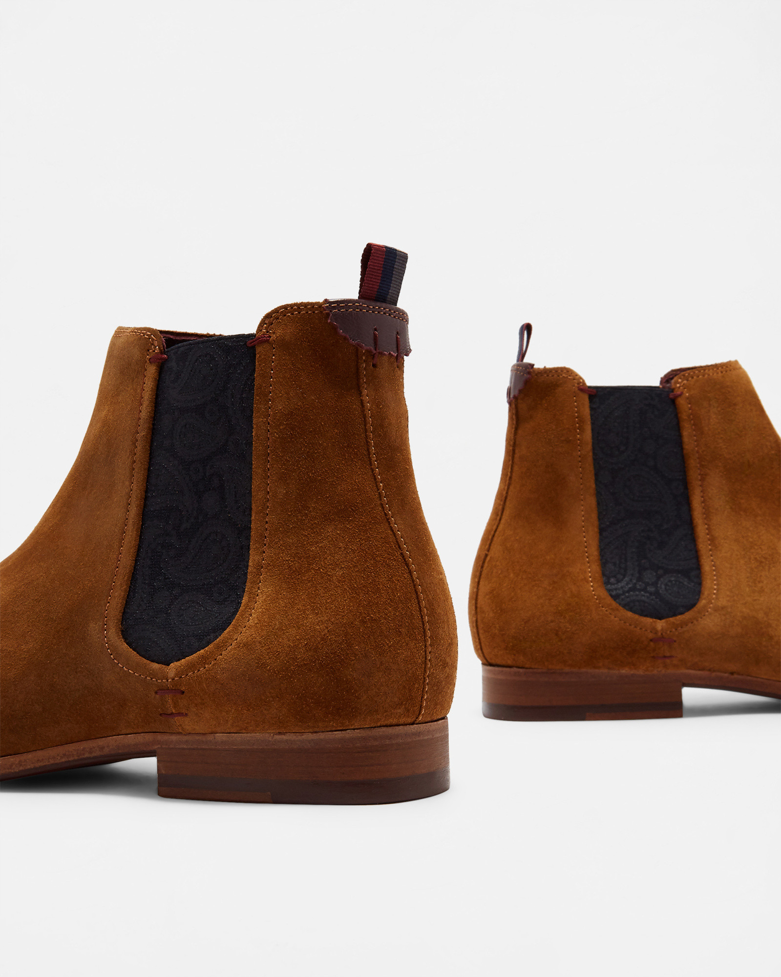 SALDOR Suede Chelsea boots by Ted Baker
