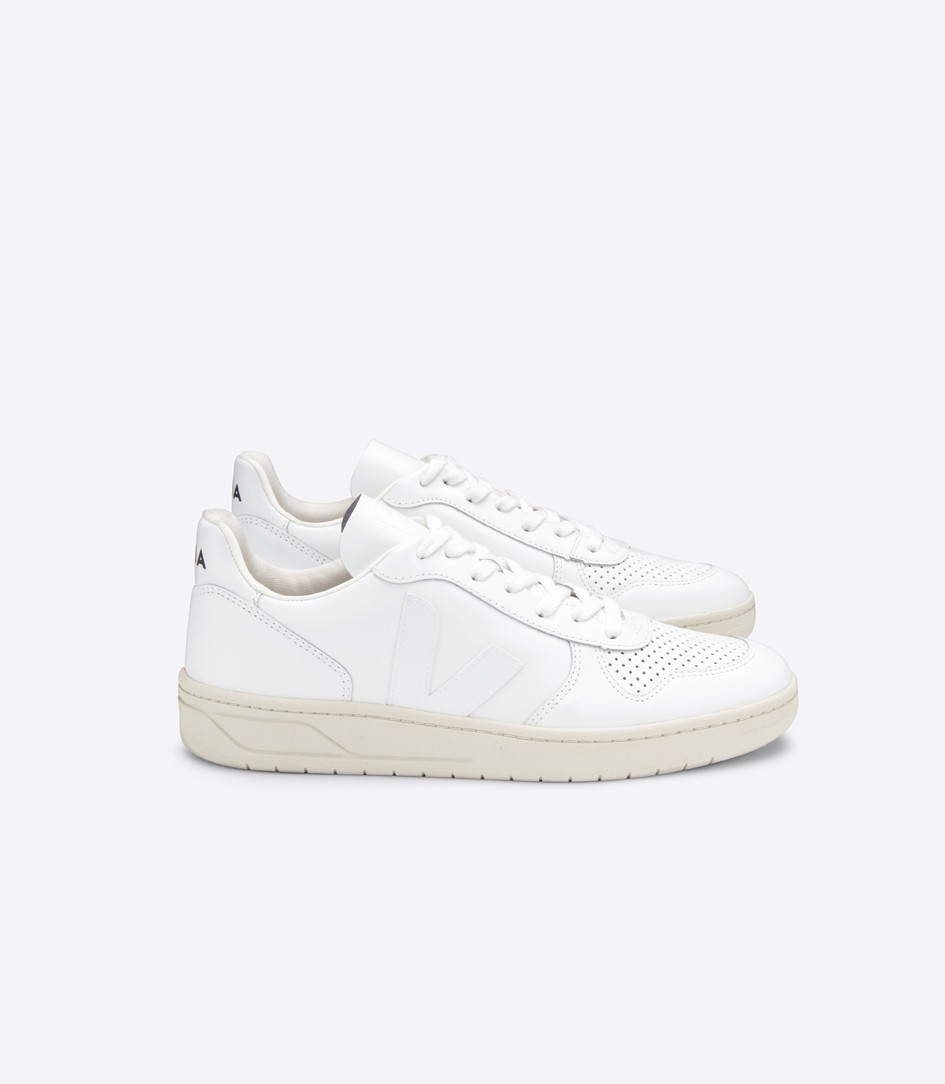 V10 Leather Trainers by Veja — Thread.com