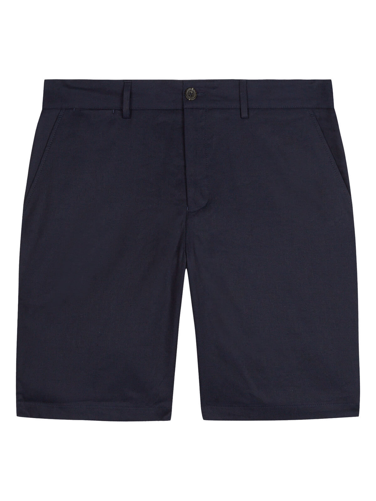 Lyle and Scott Navy Cotton Linen Chino Shorts