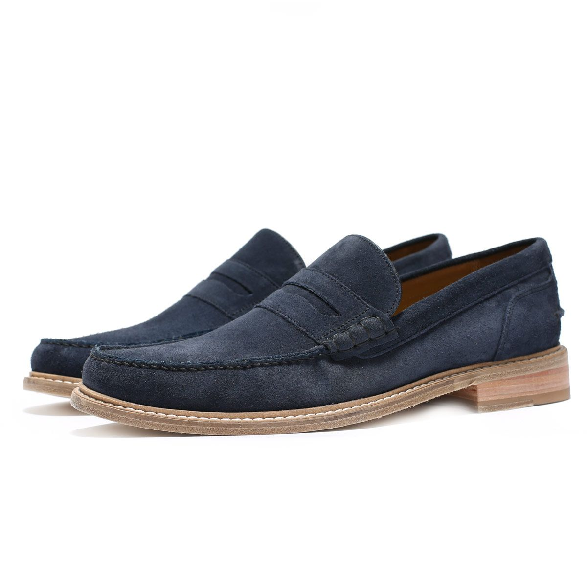 Oliver Sweeney Leiston Navy - Suede Penny Loafer