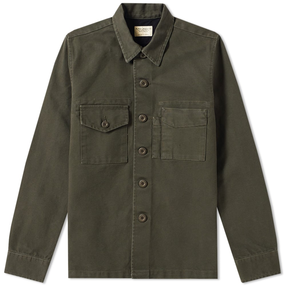 e49c8a38 Nudie Sten Canvas Army Shirt by Nudie Jeans — Thread