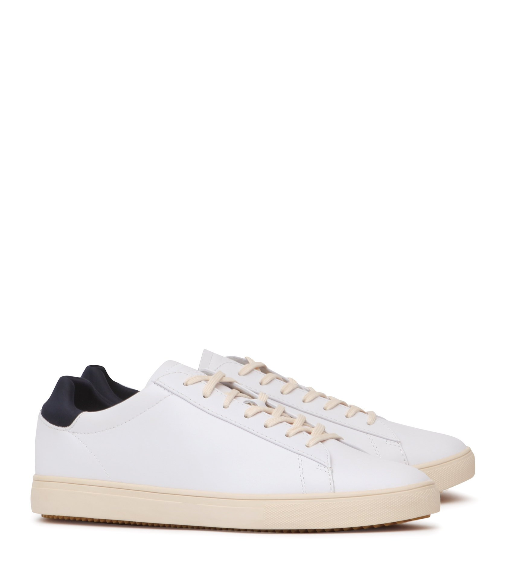 Bradley Clae Leather Trainers by Reiss