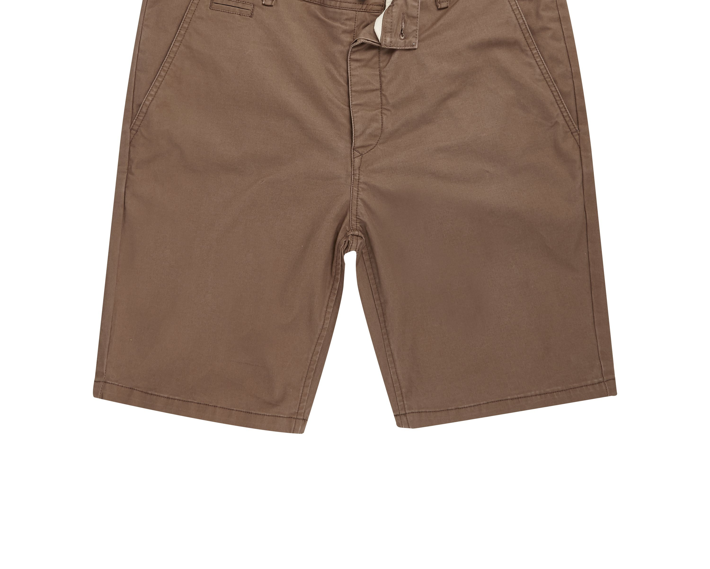 River Island Mens Brown slim fit shorts