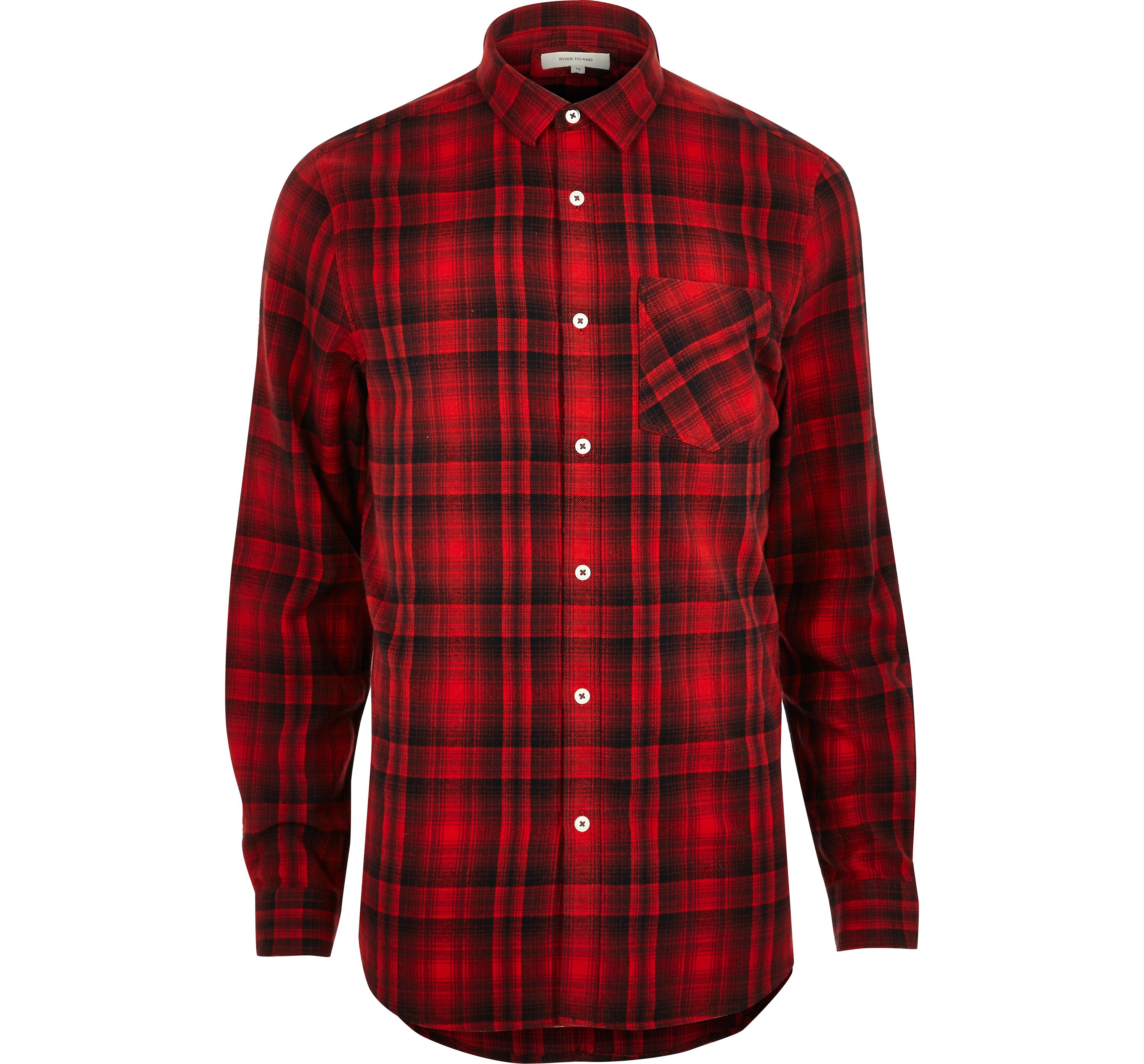River Island Mens Red check shirt