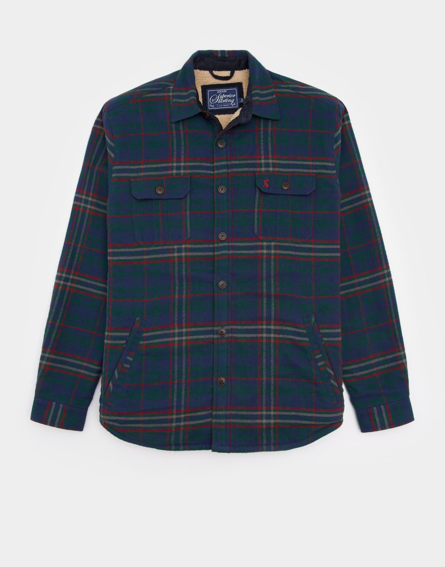 Joules Green Tundra Check OVER SHIRT Classic Fit