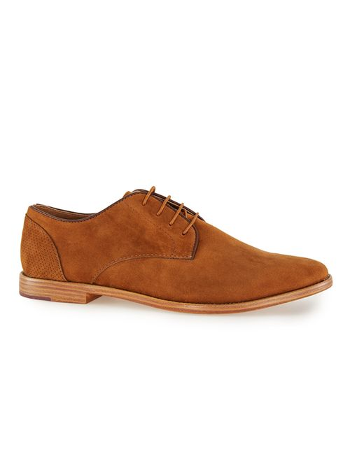 Topman Brown Tan faux suede lace up shoes
