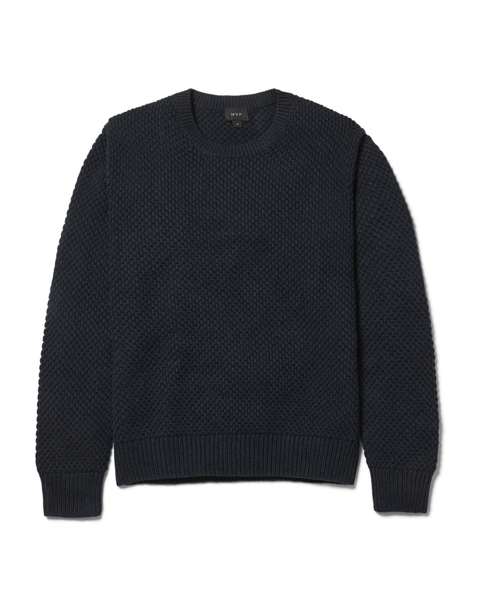 MVP Smithy Textured Jumper - Navy