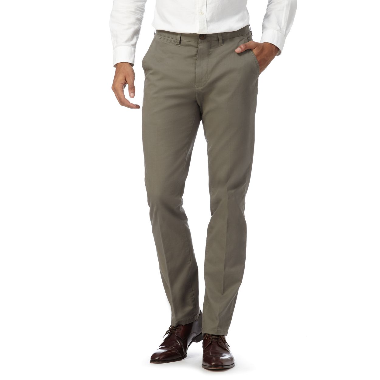 Hammond & Co. by Patrick Grant Grey twill chinos