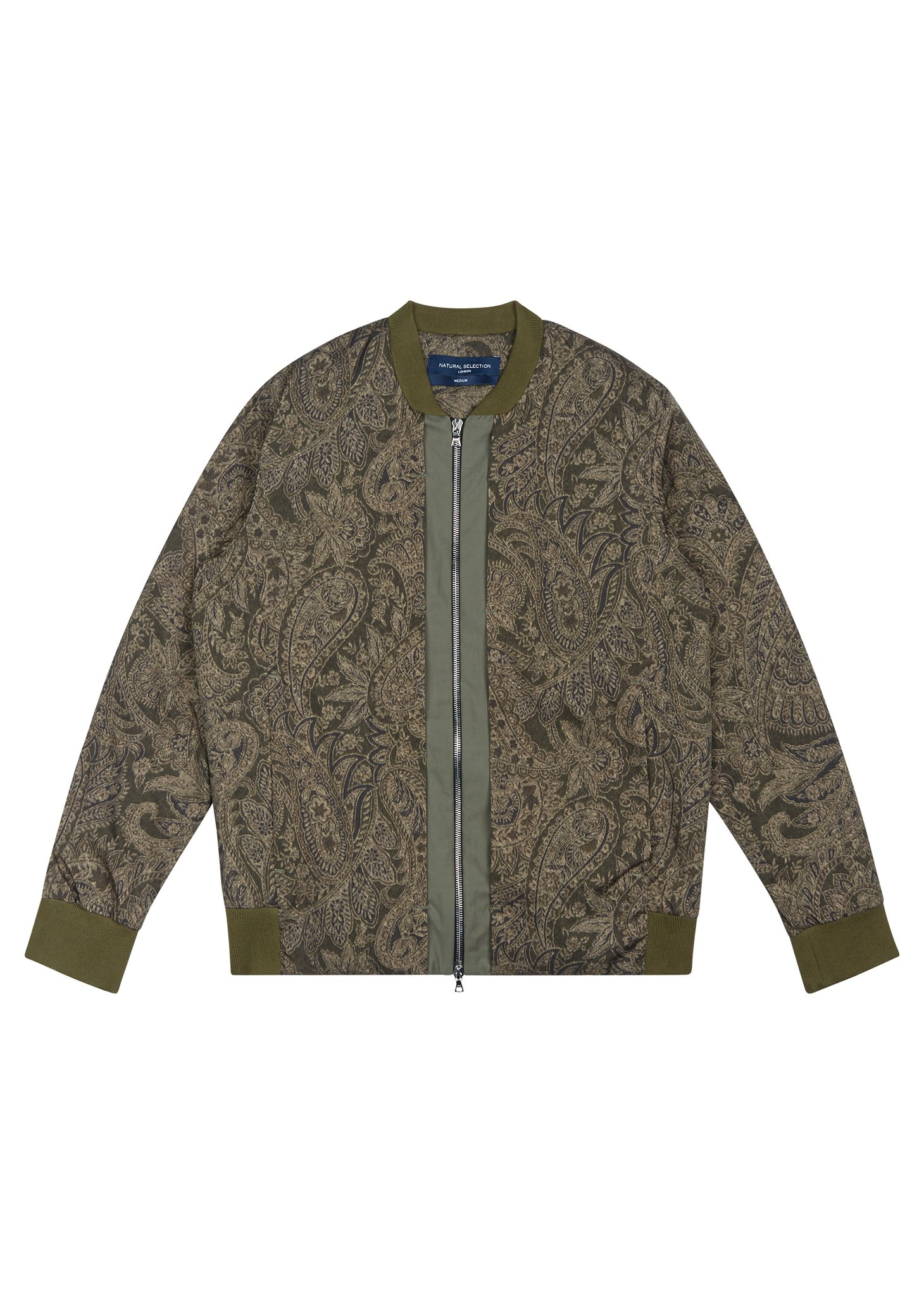 Natural Selection Type2 Zip Olive Paisley