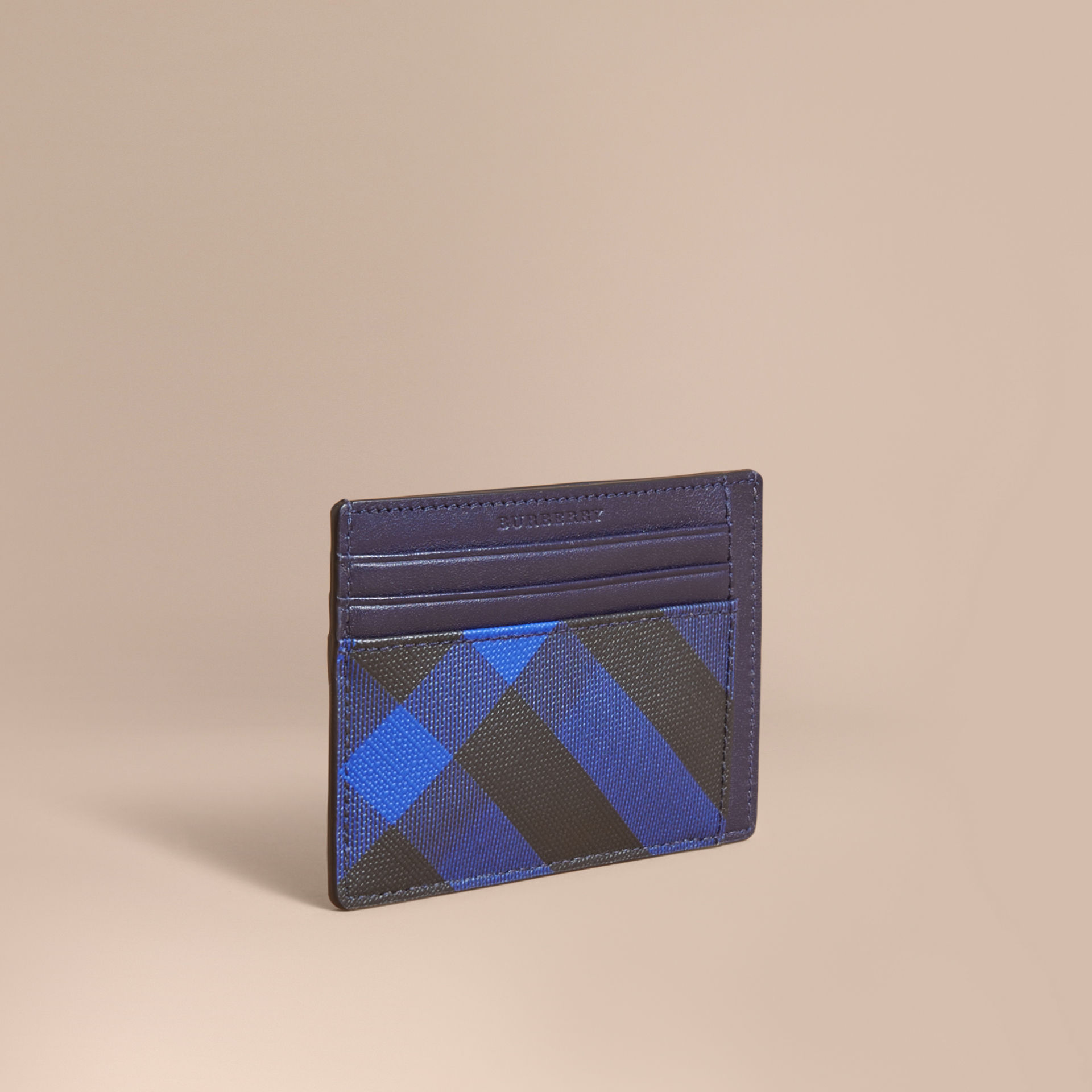 Burberry Bright Lapis London Check Card Case