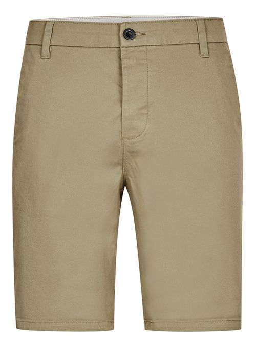 Topman Khaki Light khaki stretch skinny chino shorts
