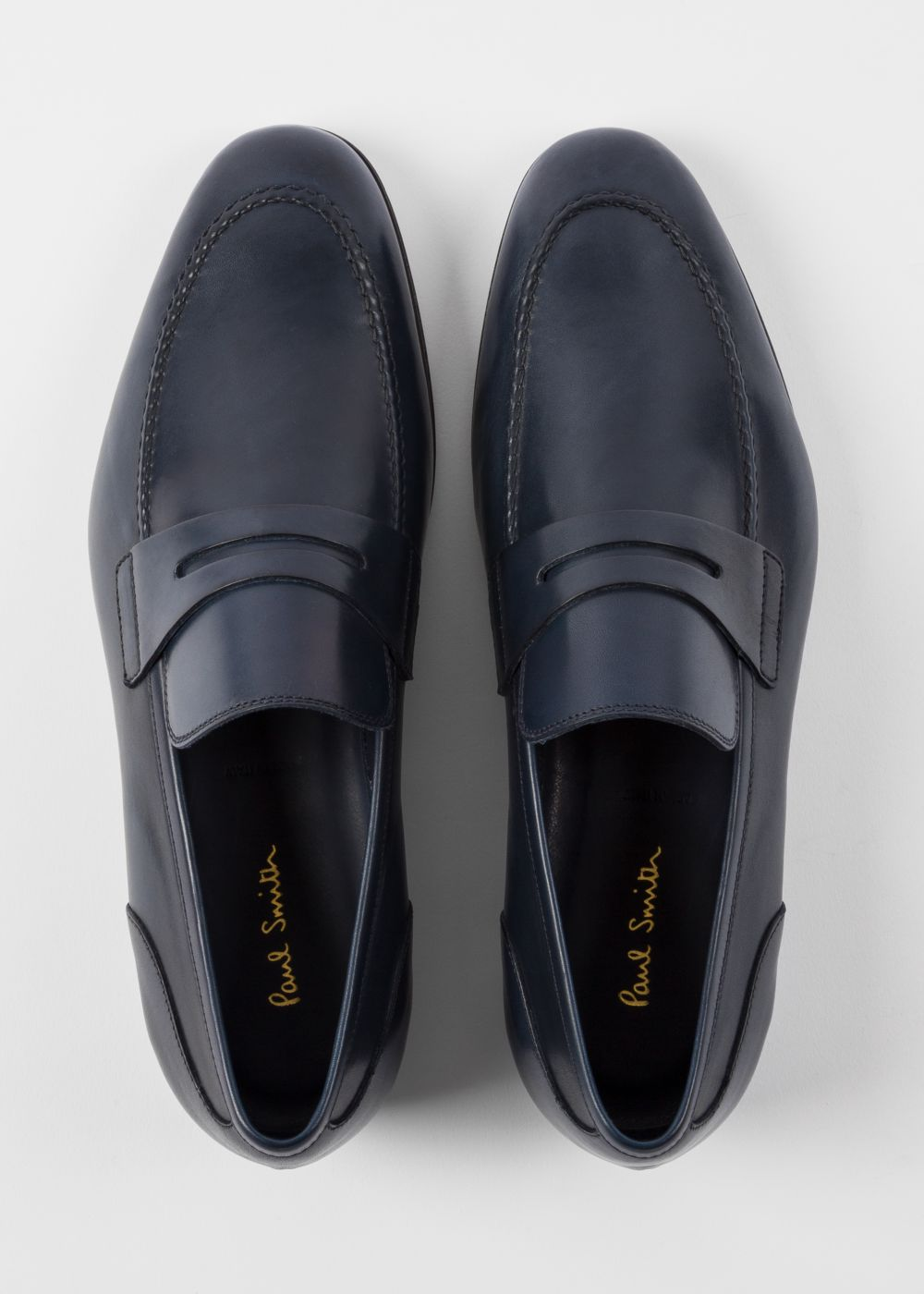 Dark Navy Leather 'Chilton' Loafers