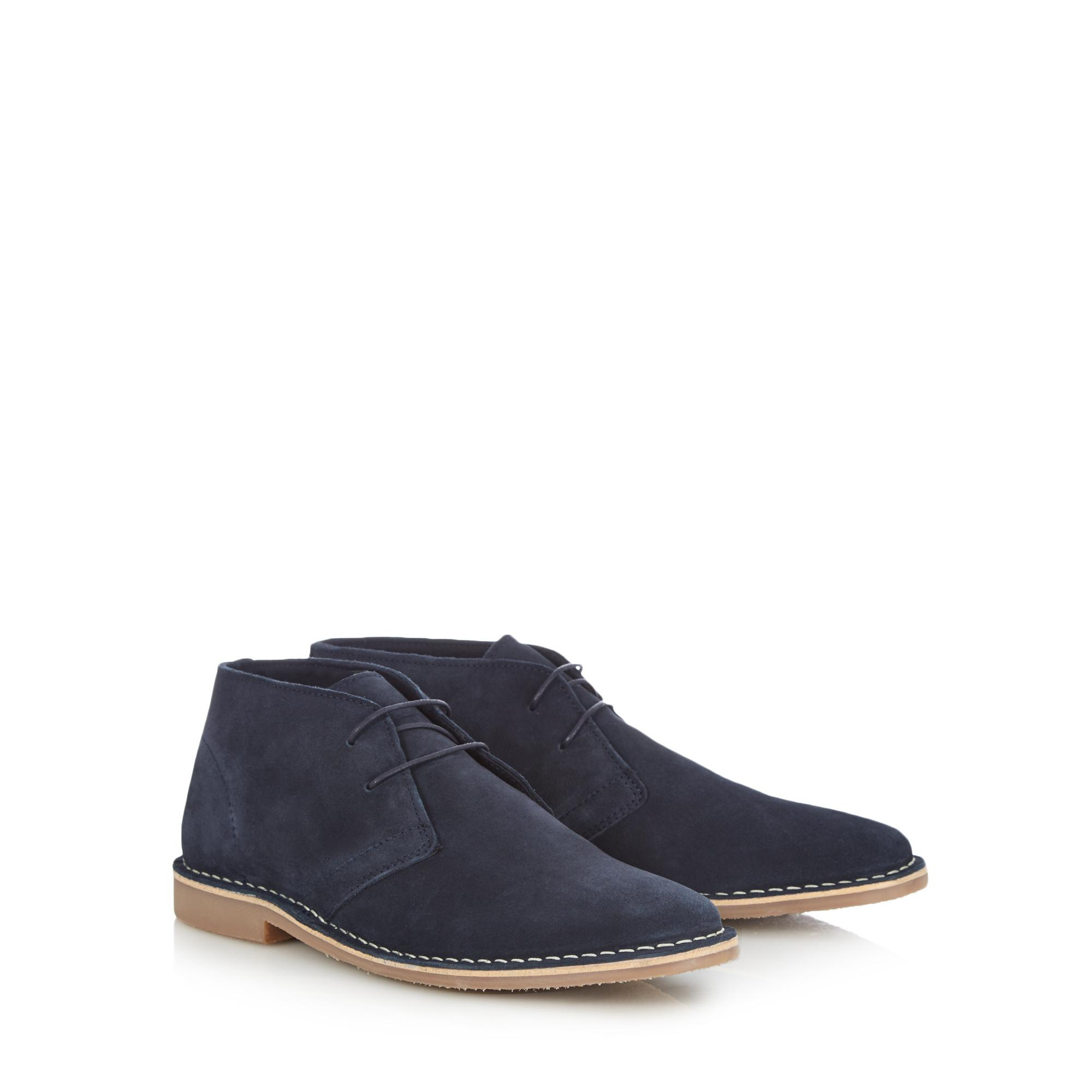Blue Suede 'Stevie' Desert Boots by Red