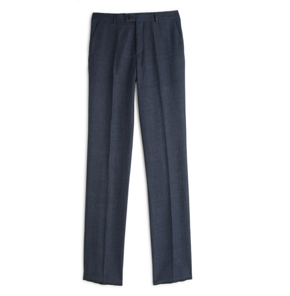 Private White V.C. Riviera Chino Trouser – Navy Hopsack Linen