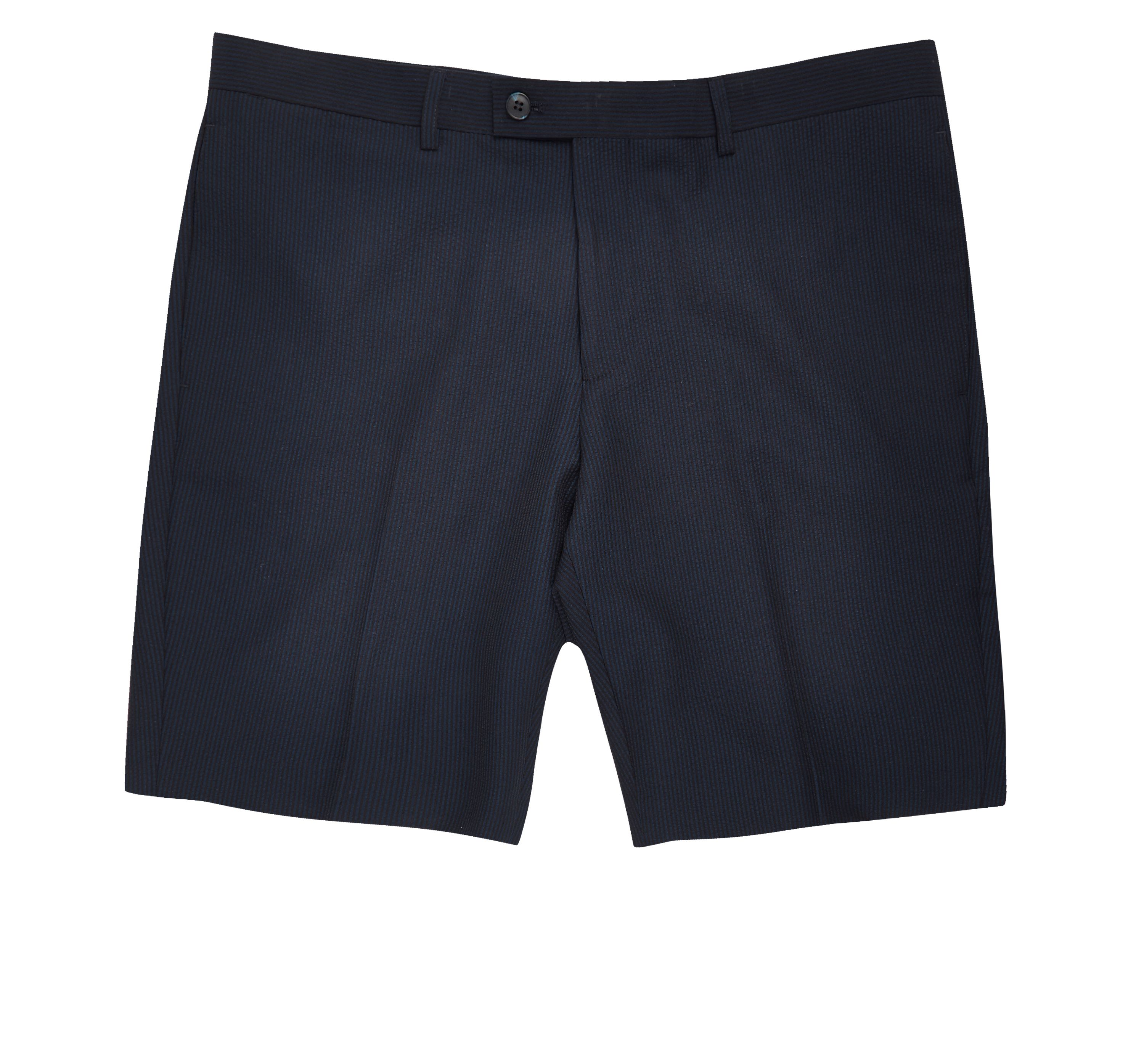 River Island Mens Navy slim fit suit shorts