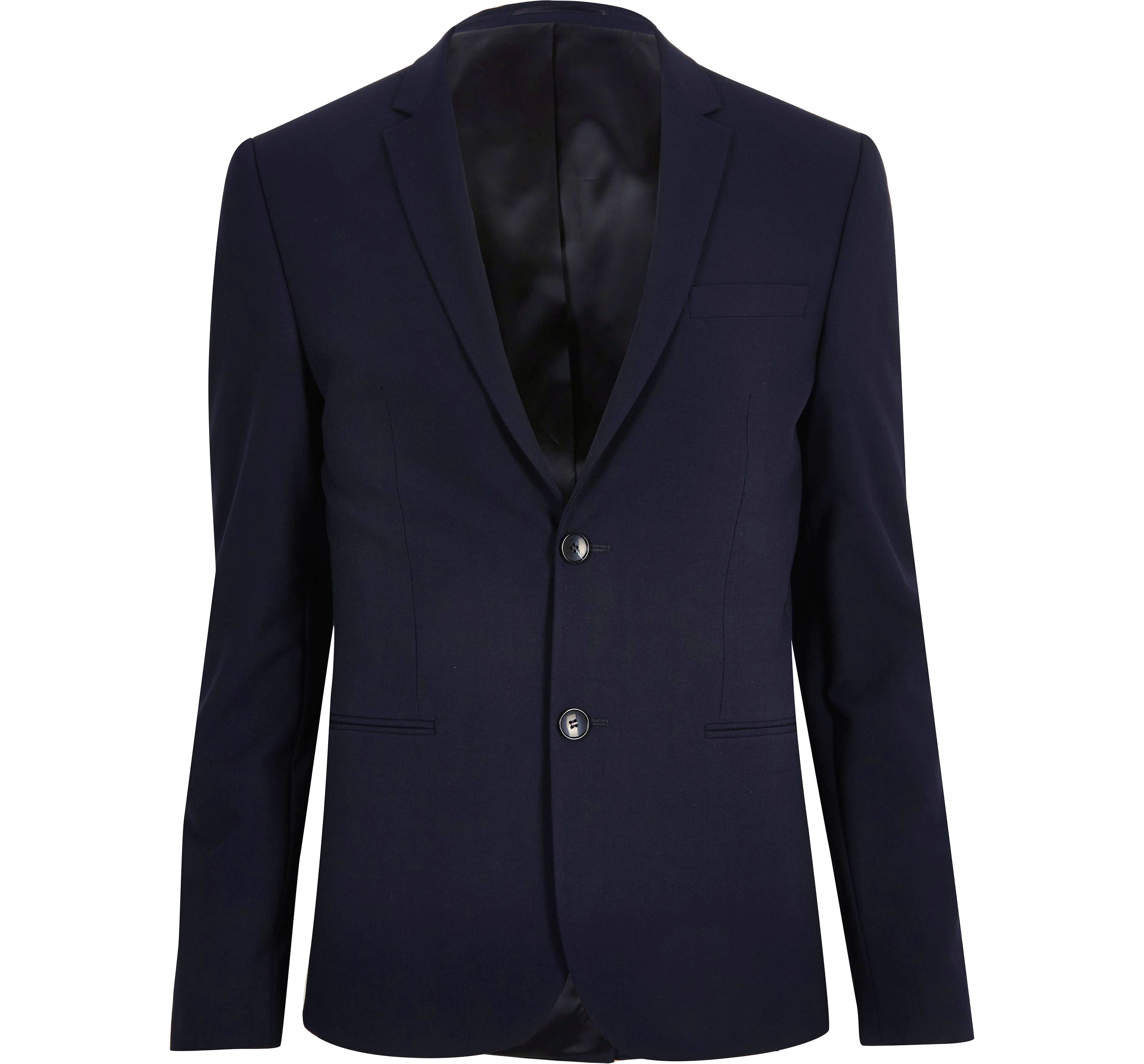 River Island Mens Navy super skinny fit suit jacket