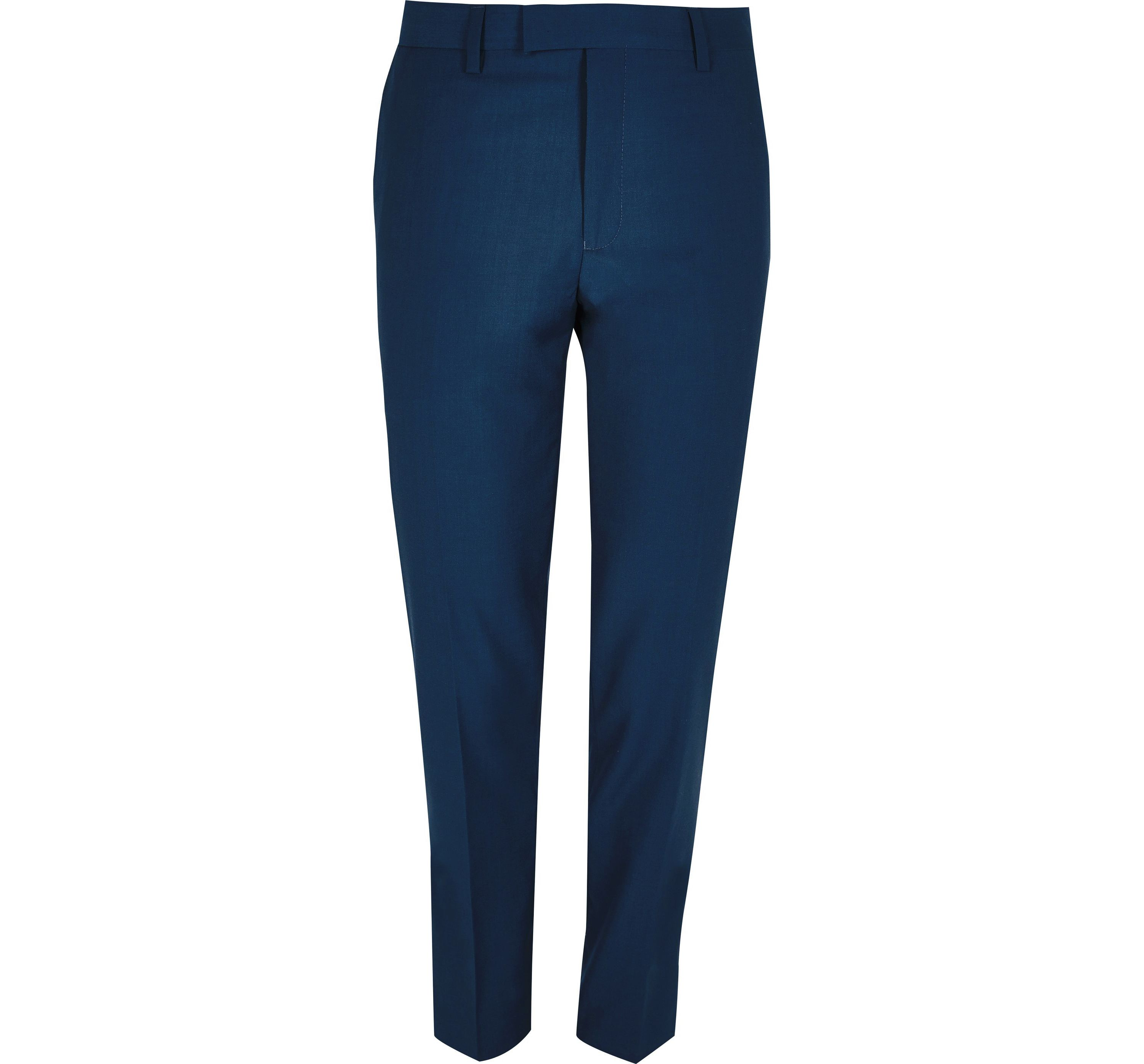 River Island Mens Blue skinny fit suit trousers