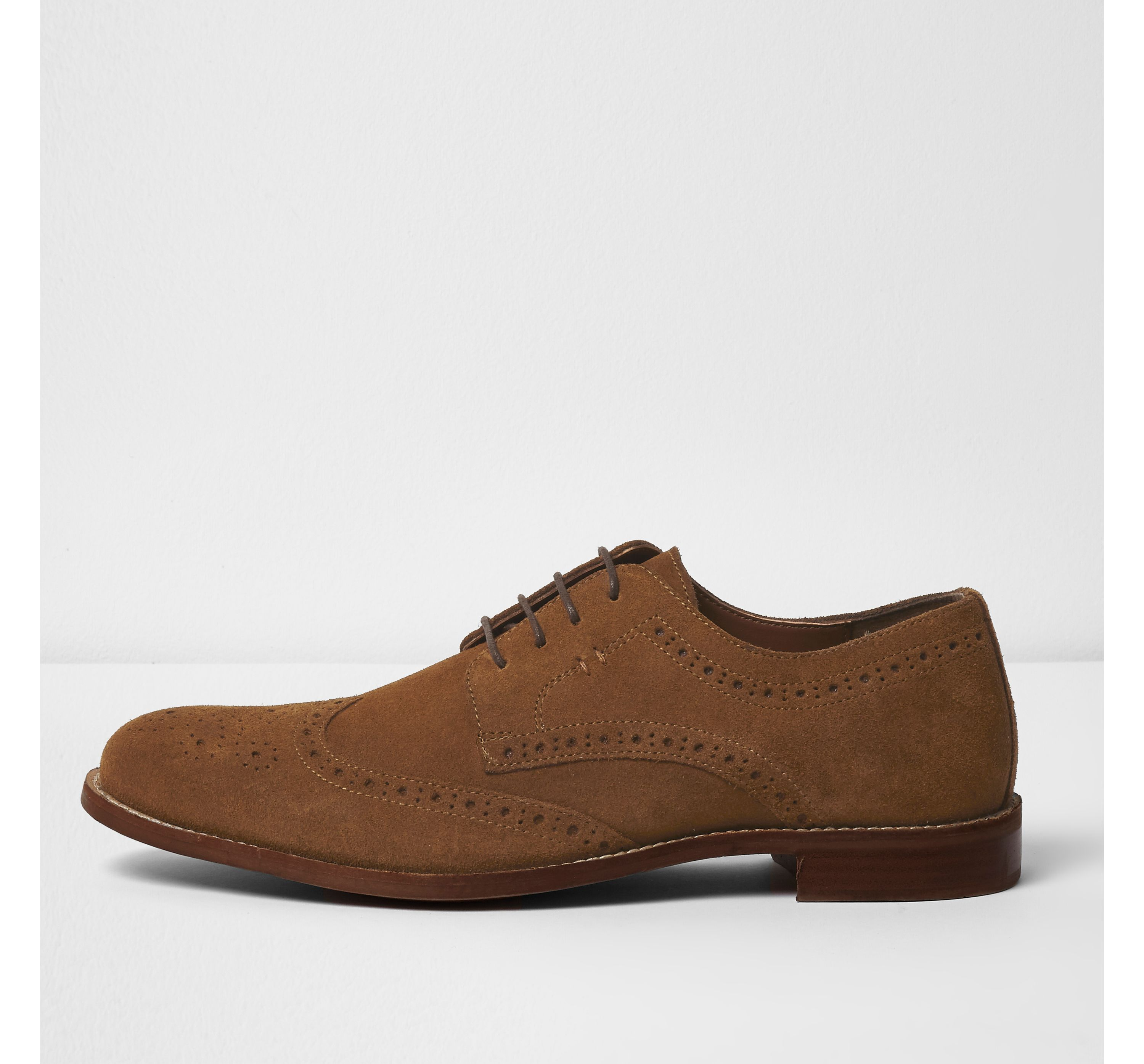 River Island Mens Tan suede brogues