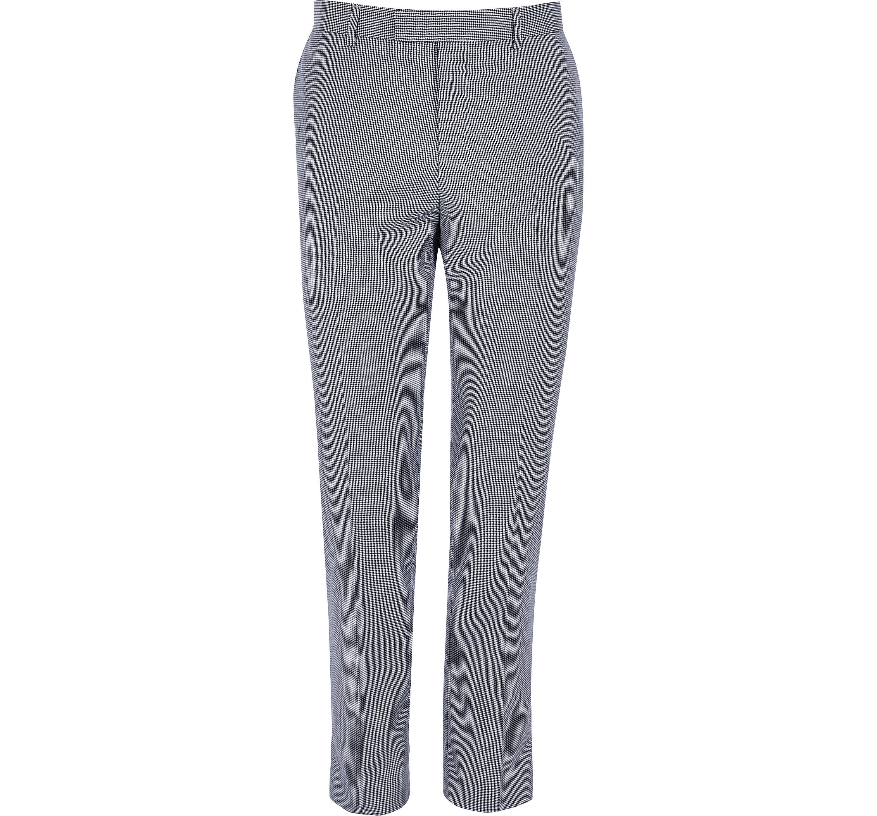 River Island Mens Navy pupstooth skinny fit suit trousers