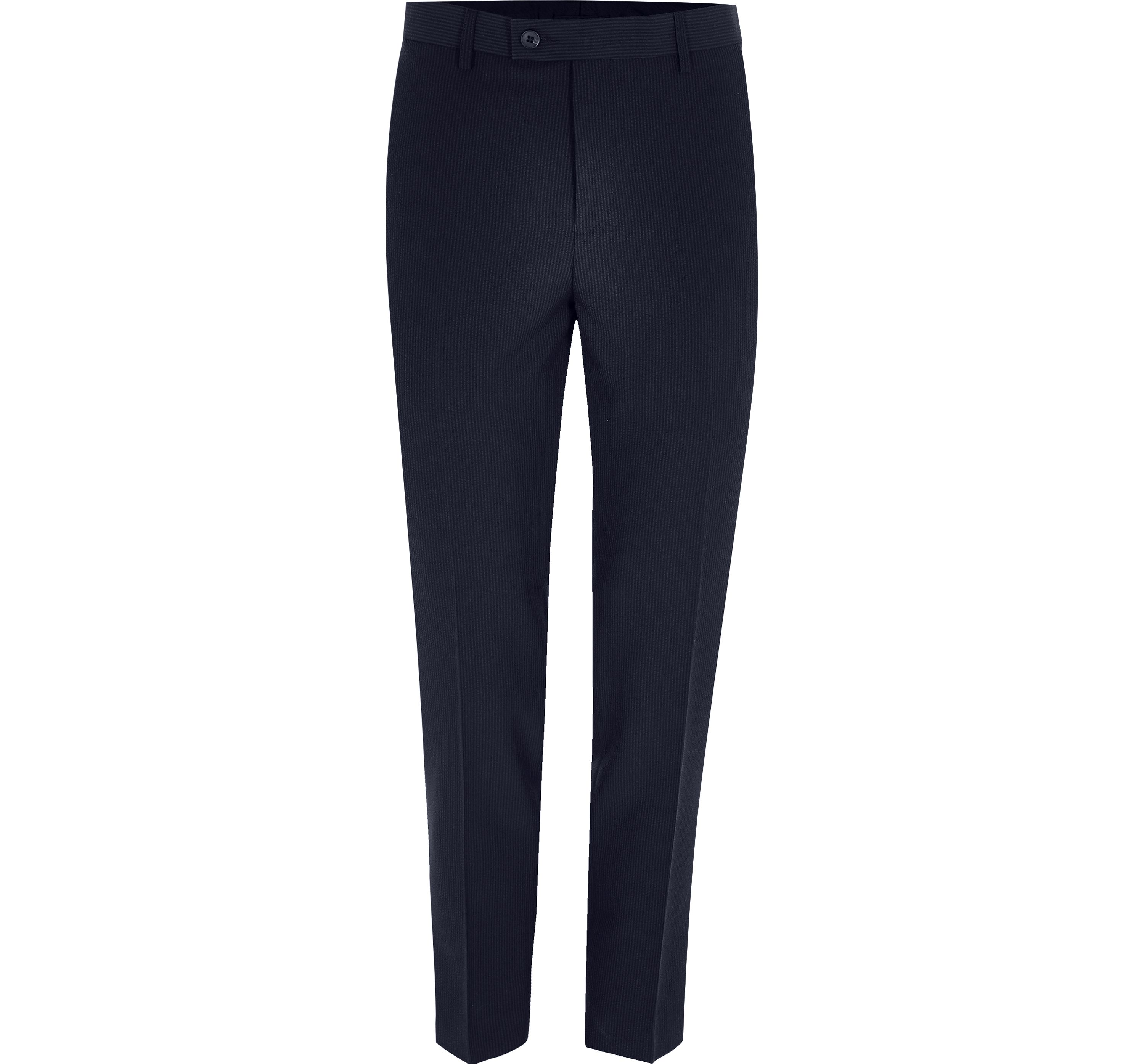 River Island Mens Navy cropped skinny fit suit trousers