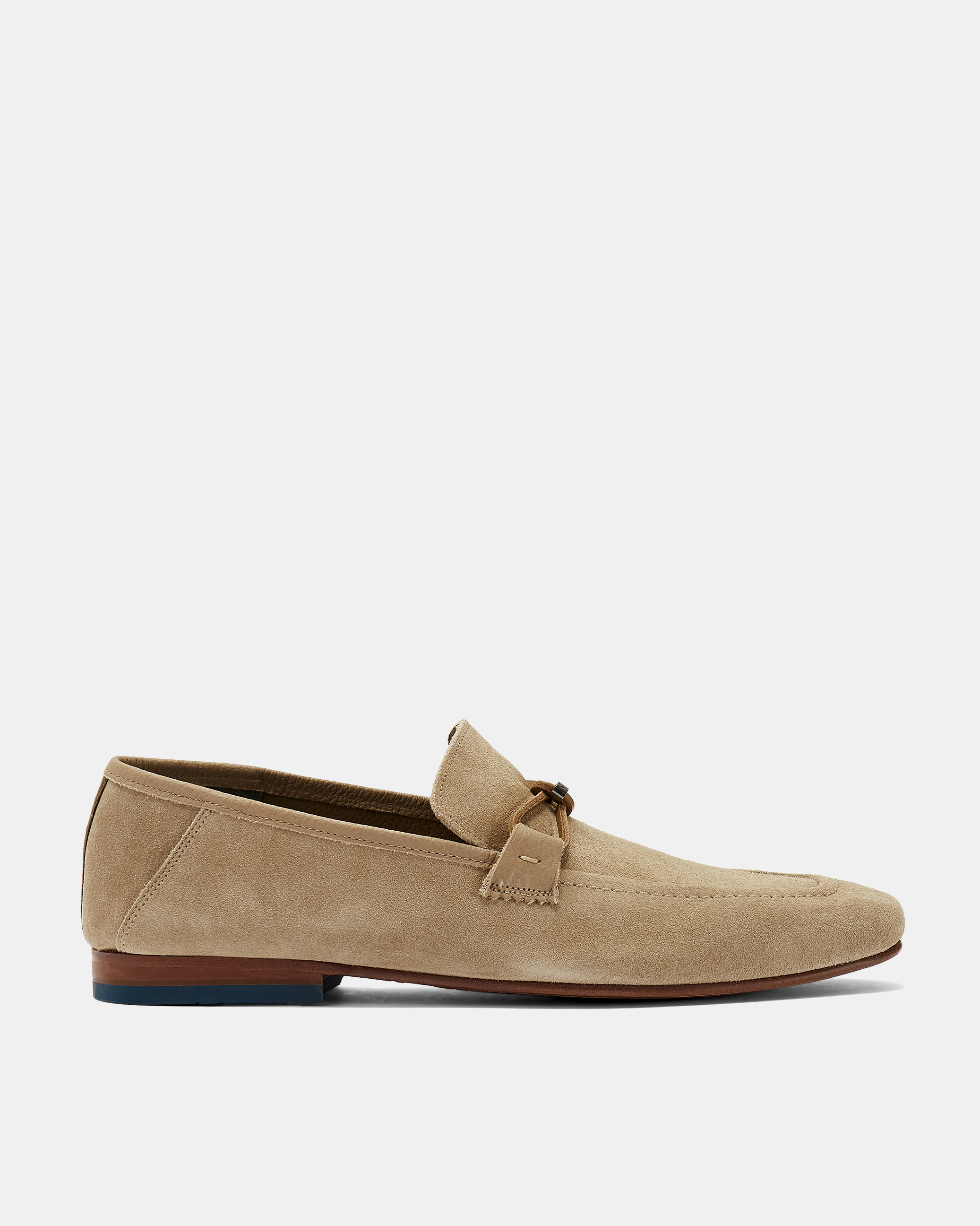 SIBLAC Deconstructed suede loafers by