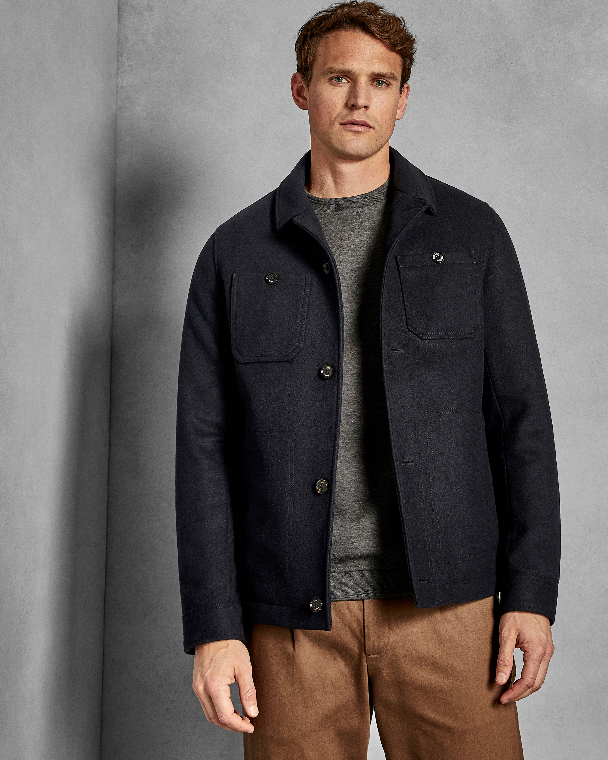 NEW* Ted Baker JONNES Mens Wool Jacket 2 in 1 with Hooded Removable Inner