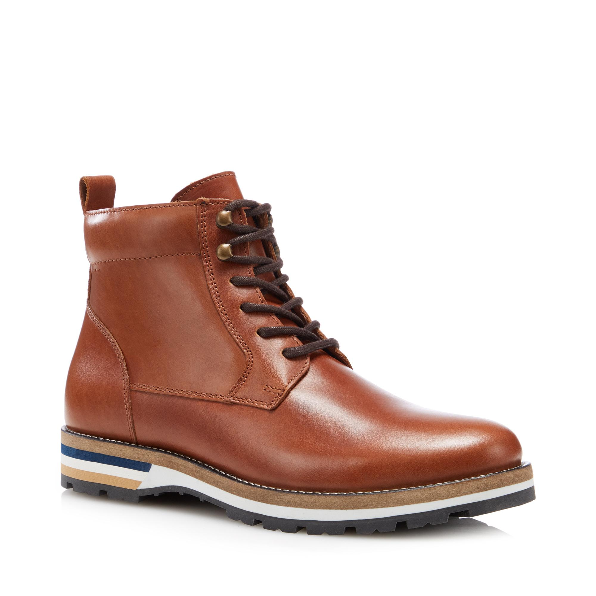 Tan Leather 'Lisbon' Boots by J by