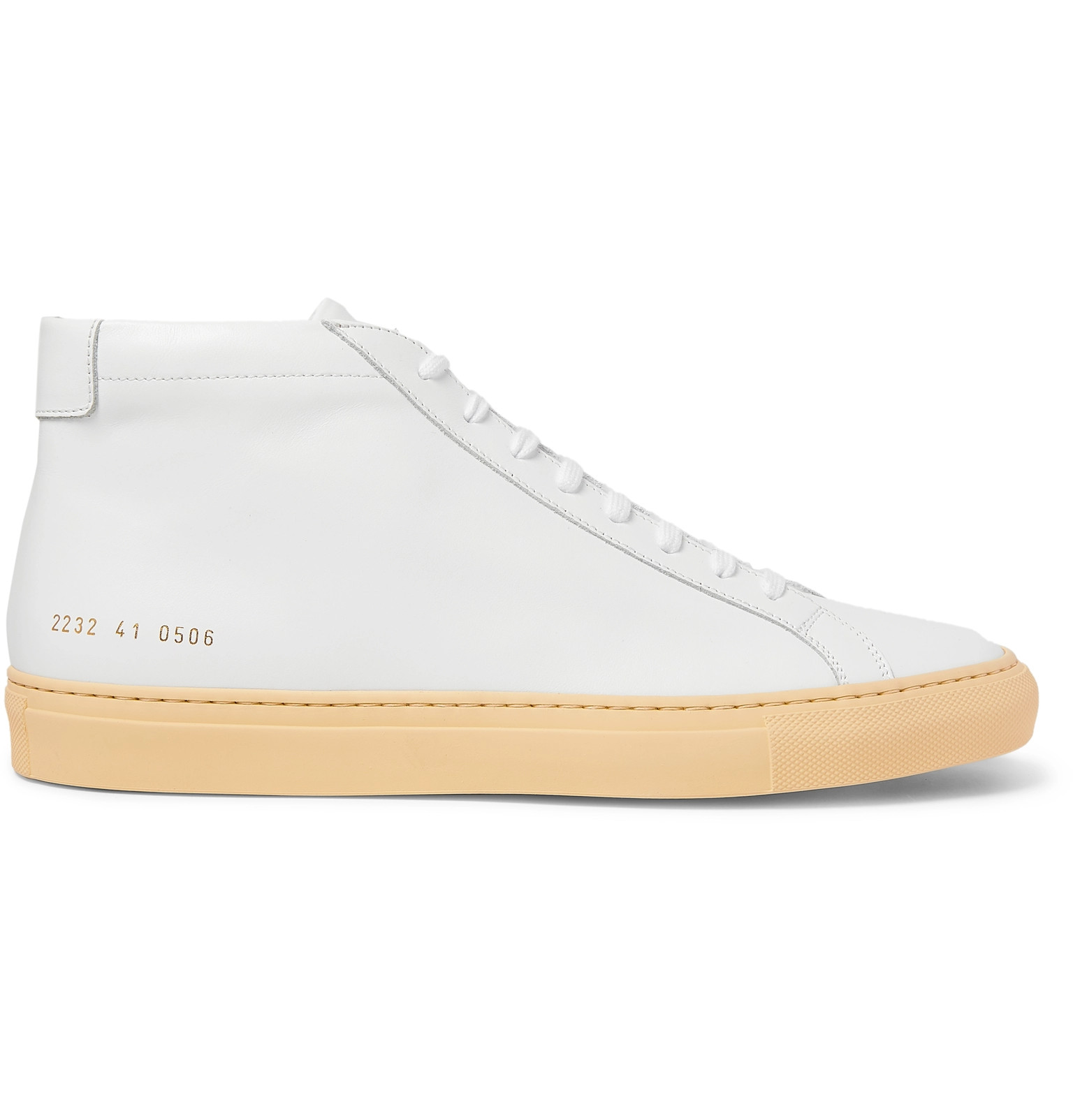 Diez Tormenta crecimiento  Achilles Vintage Leather High-Top Sneakers by Common Projects — Thread
