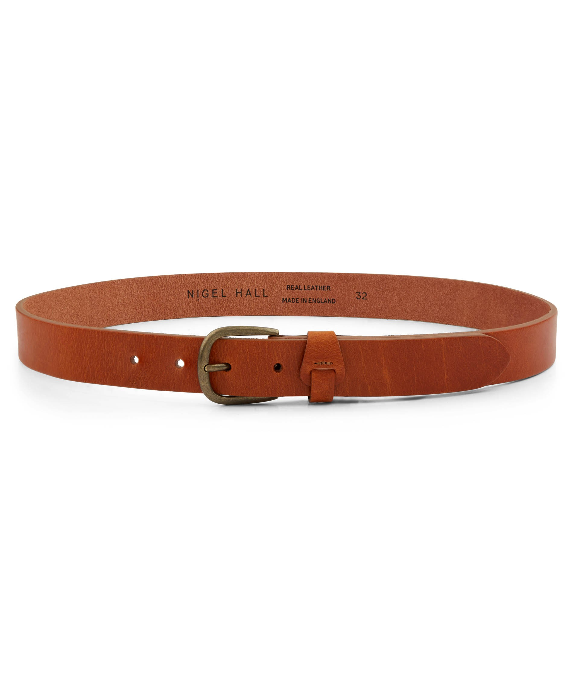 Nigel Hall Tan Made in England Leather Belt (Berger)