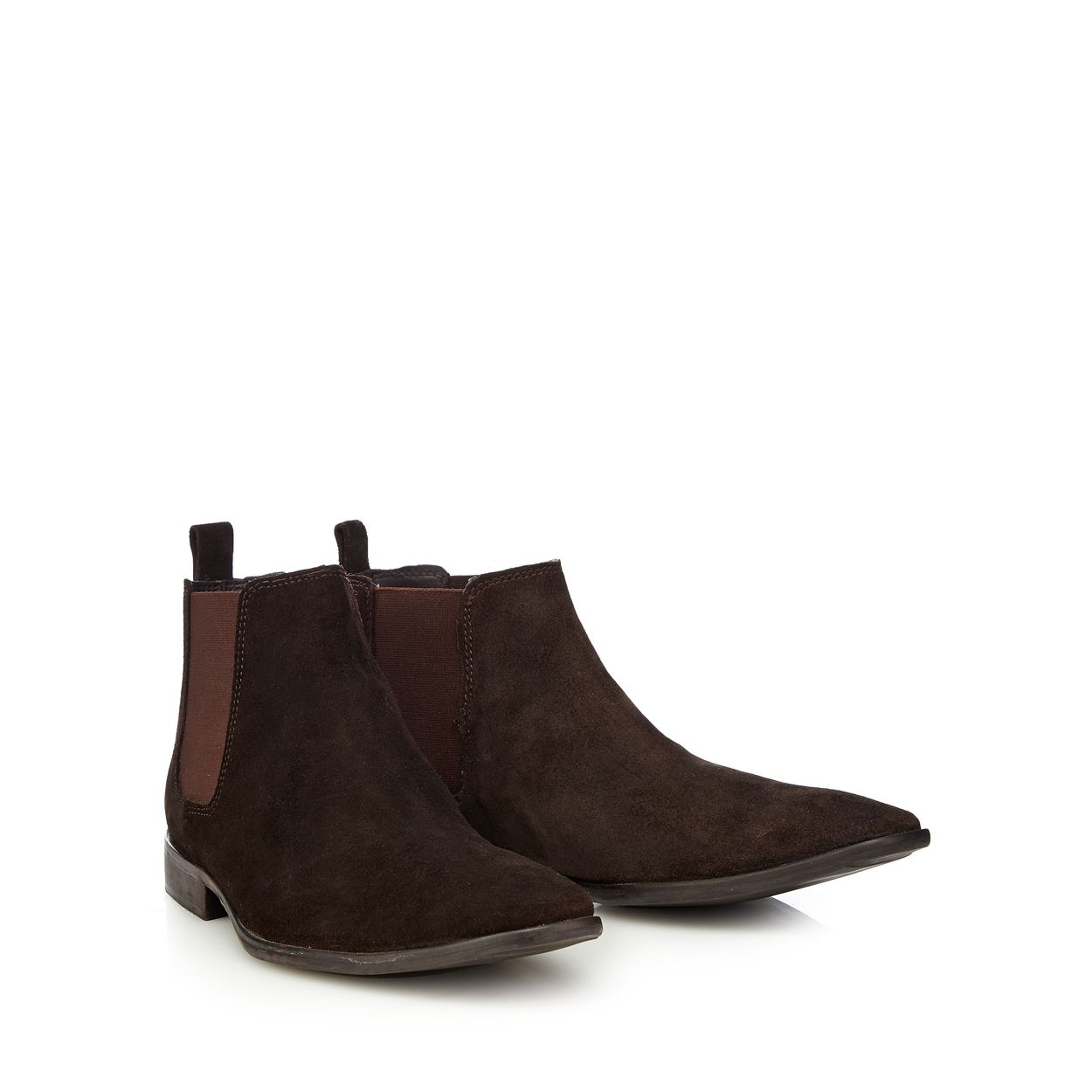 J by Jasper Conran Chocolate Brown suede Chelsea boots