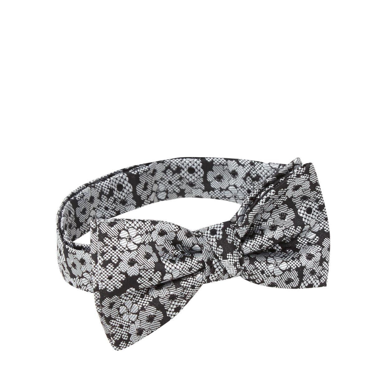 Red Herring Black jacquard floral bow tie
