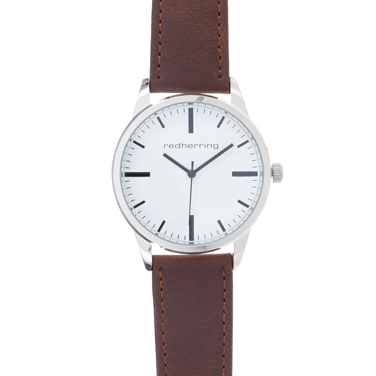 Red Herring Brown Men's brown leatherette buckle analogue watch