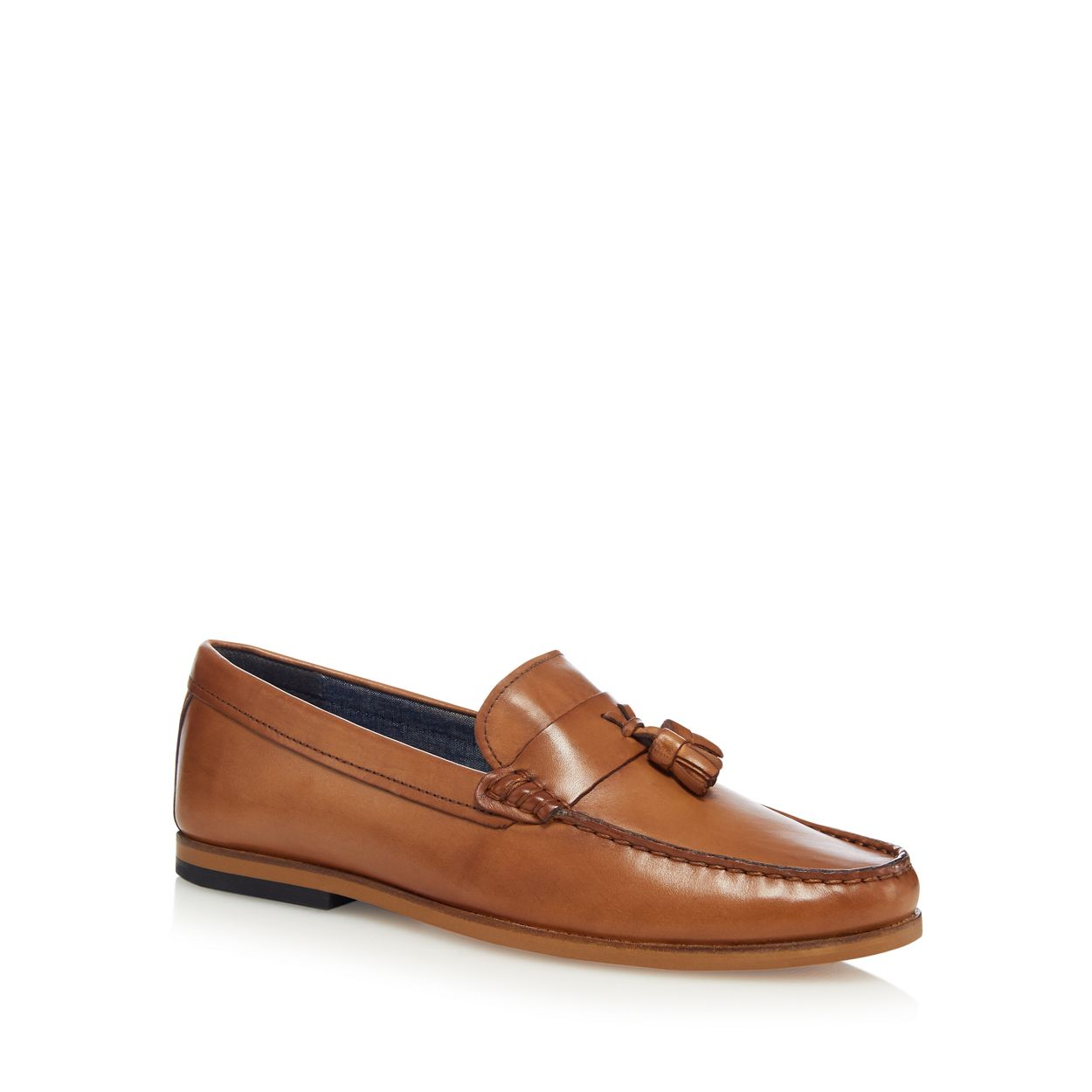 Red Herring Tan leather loafers