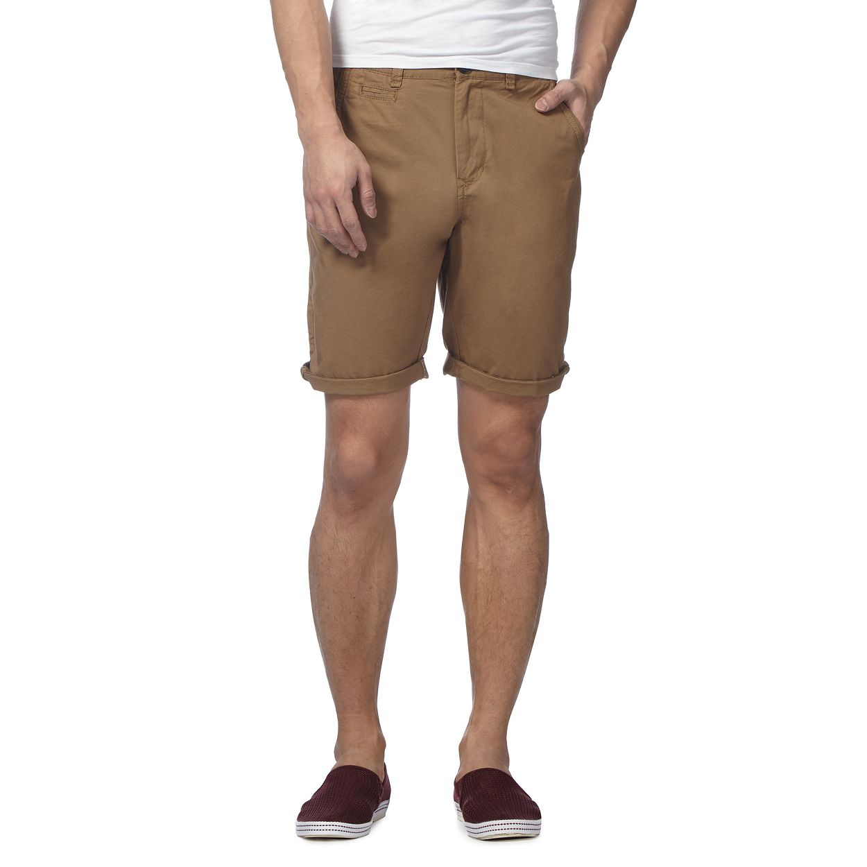 Red Herring Light Brown Light brown cargo shorts