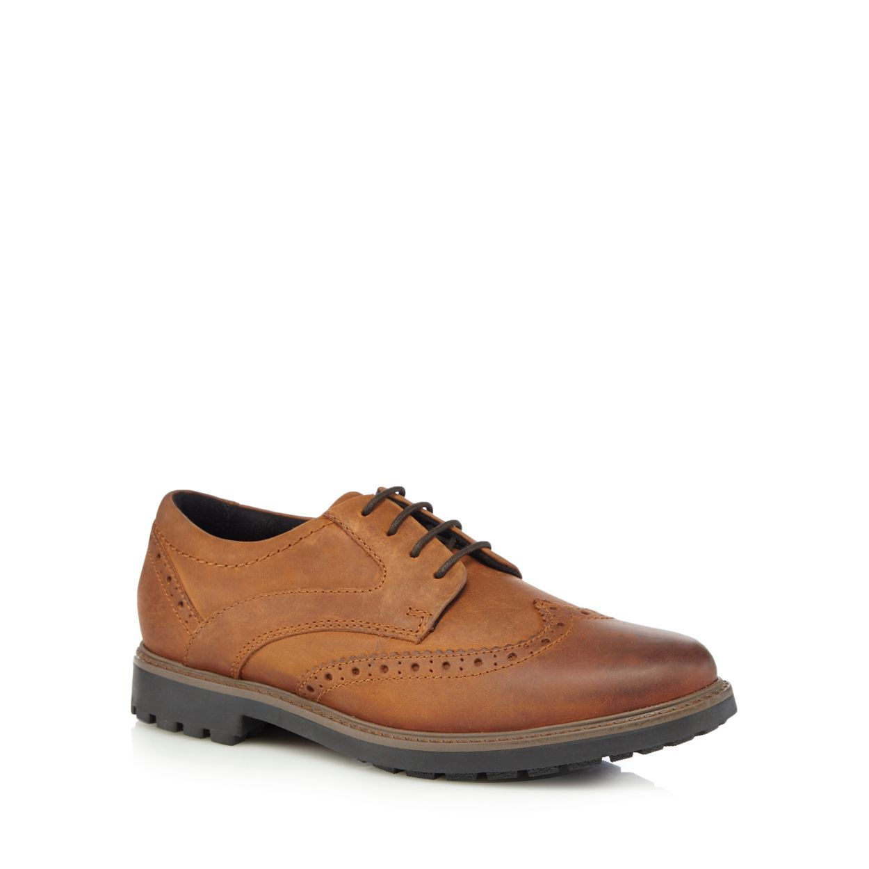 Maine New England Tan leather brogues