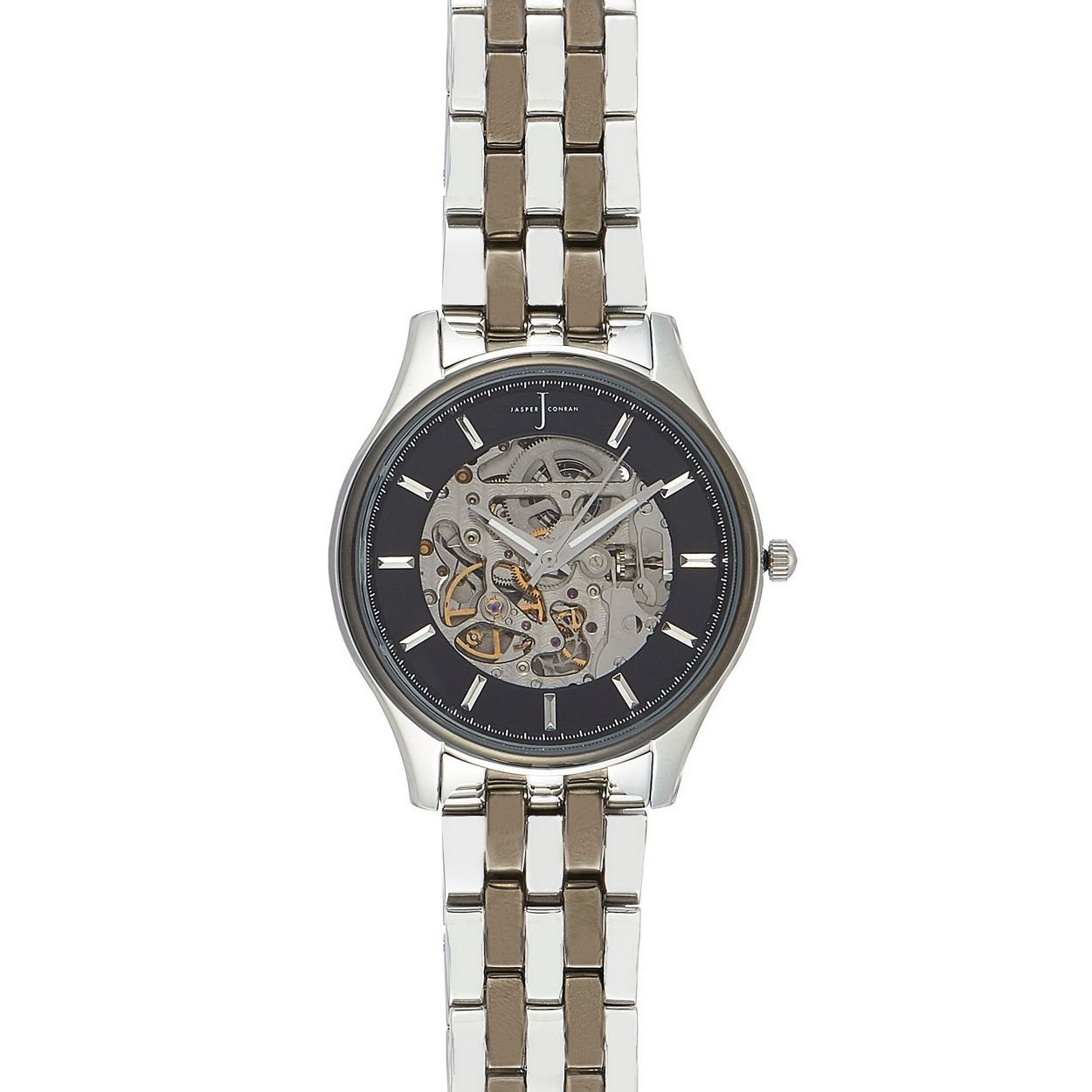 J by Jasper Conran Multicoloured Men's silver plated skeleton analogue watch