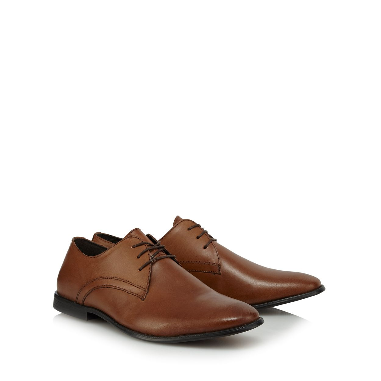 Red Herring Tan leather 'Vermont' Derby shoes