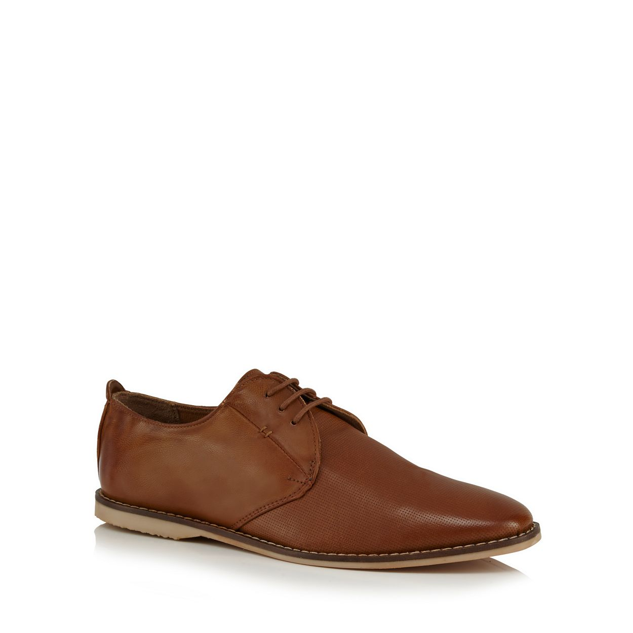 Red Herring Tan 'Sandy' Derby shoes