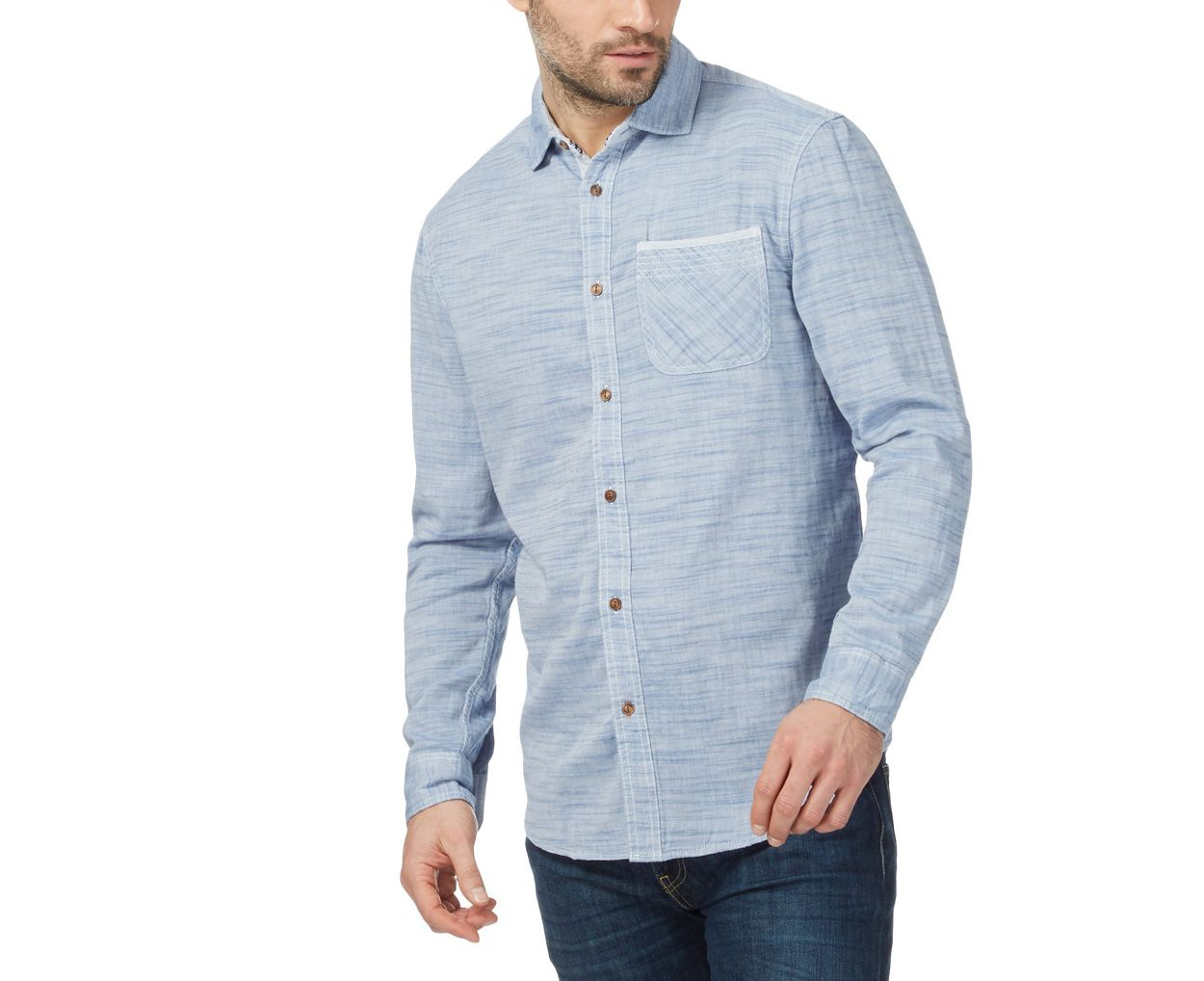 Mantaray Blue marl shirt
